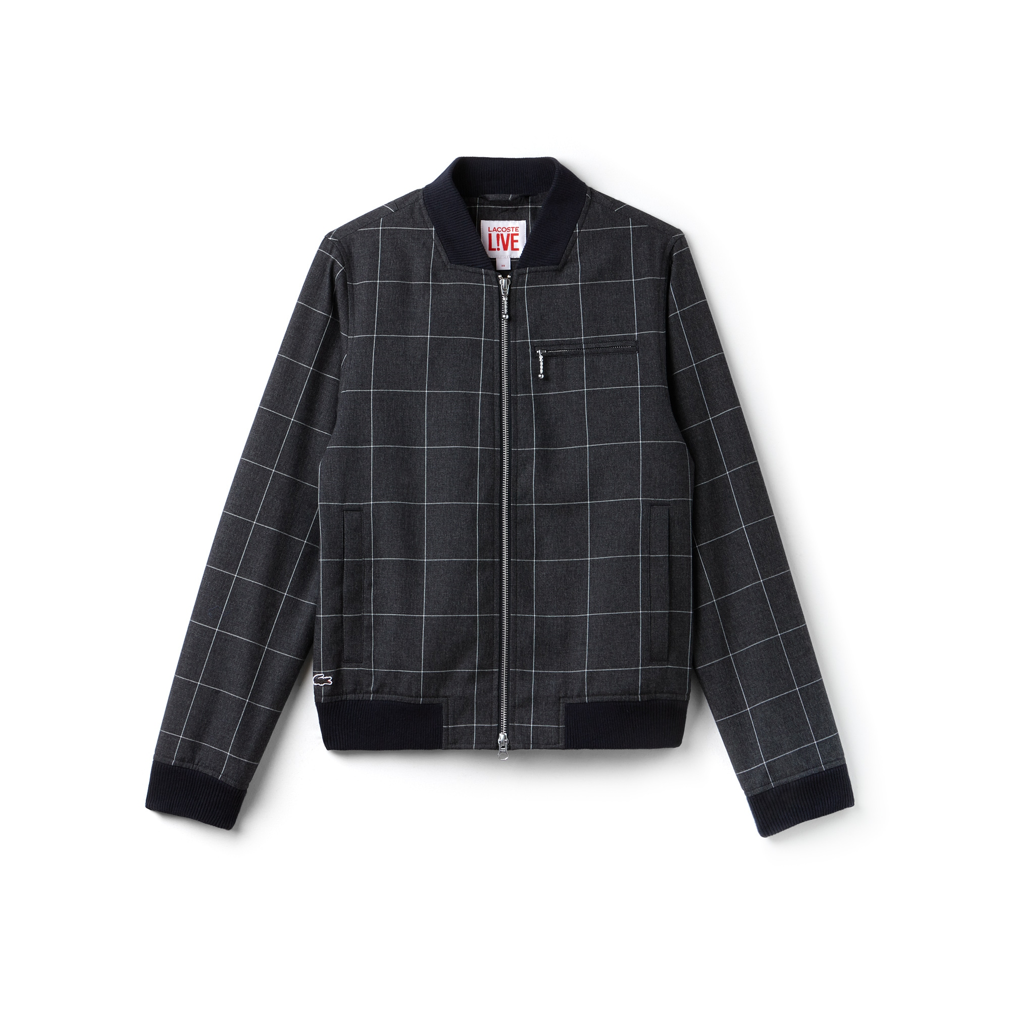 Unisex Lacoste LIVE Check Flannel Bomber Jacket
