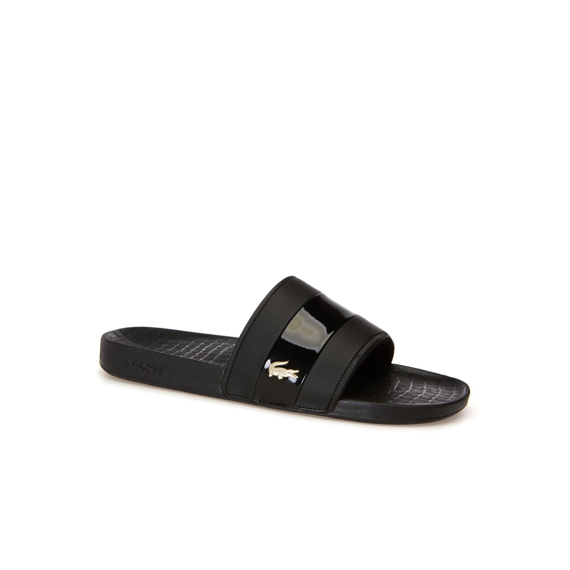 Men's Fraisier Leather Slides   LACOSTE