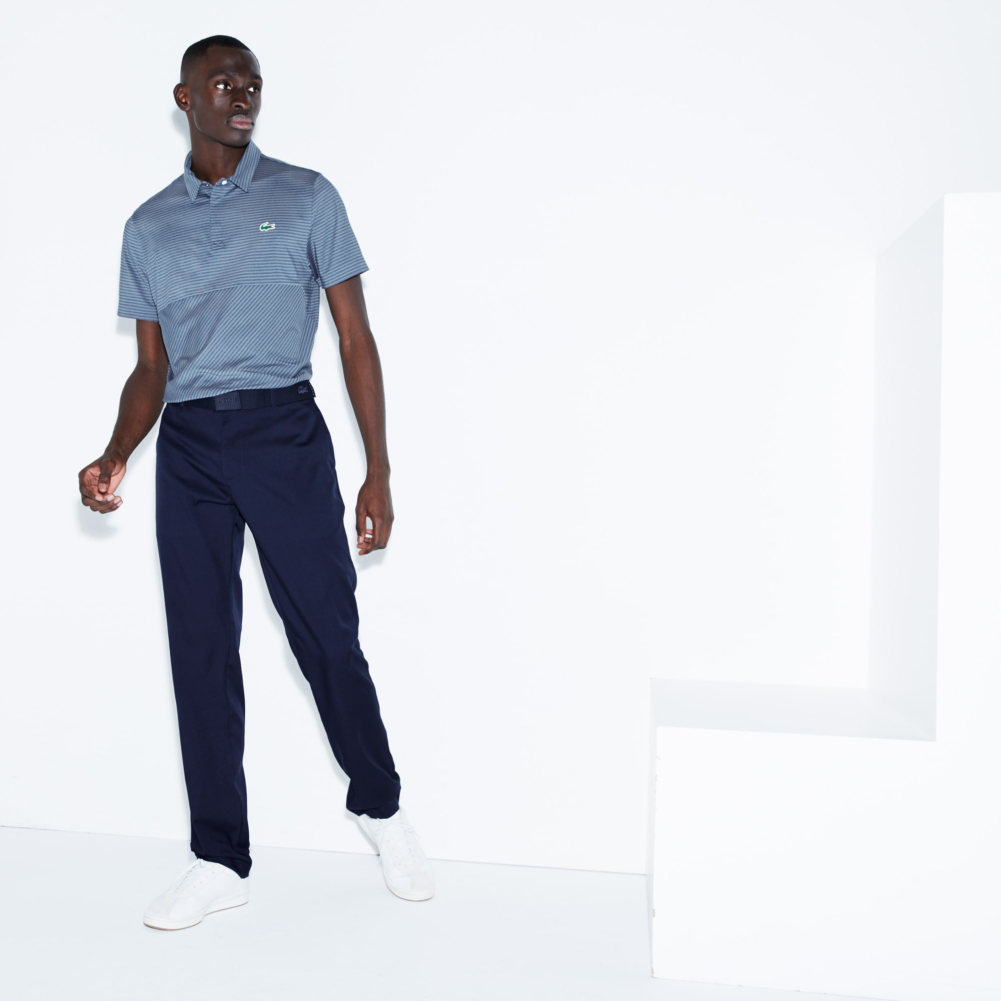 Lacoste Men's Sport Technical Gabardine Golf Chino Pants : Navy Blue