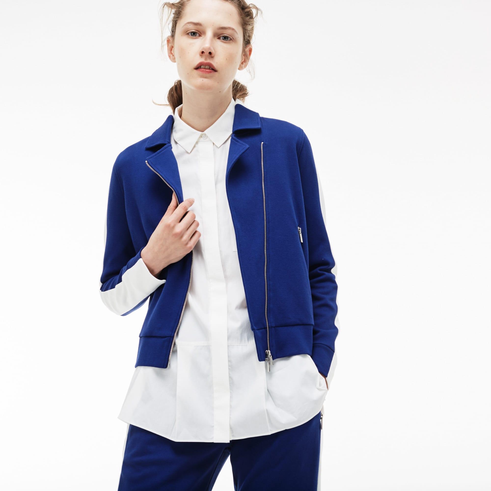 Women's Contrast Band Interlock Piqué Jacket