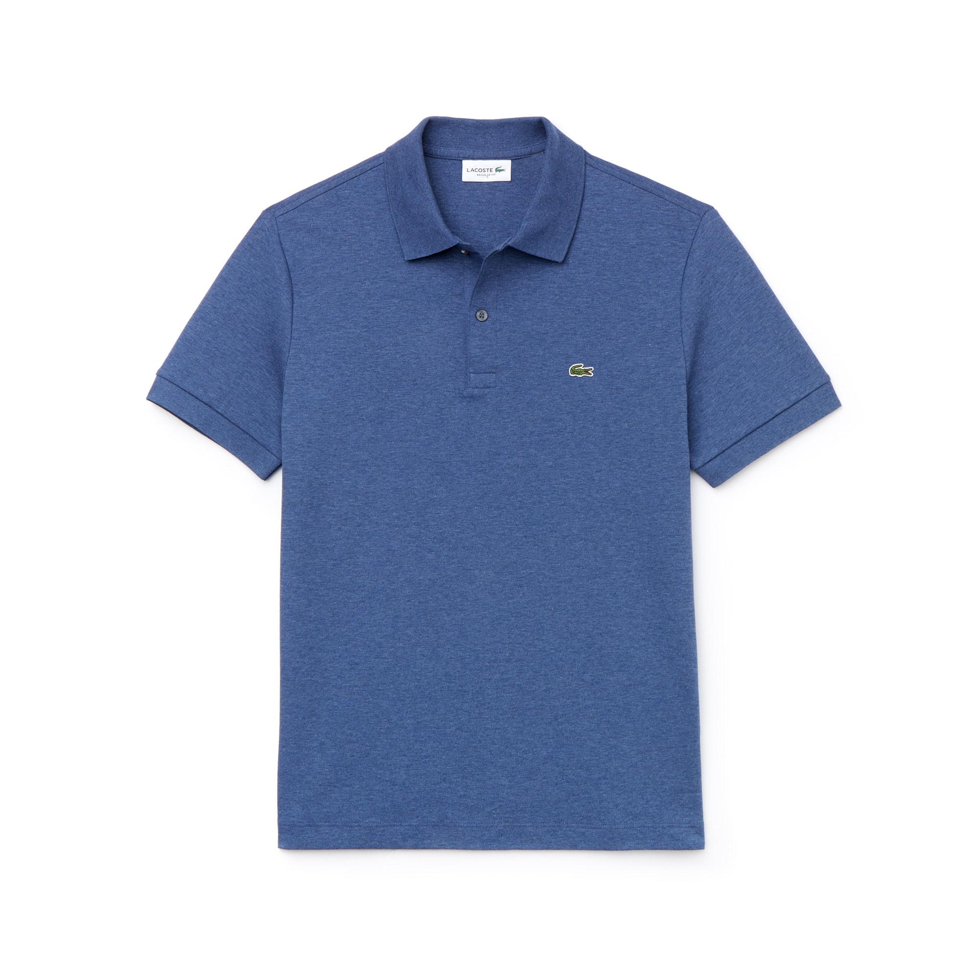 라코스테 Lacoste Mens Regular Fit Pima Cotton Interlock Polo,cruise chine