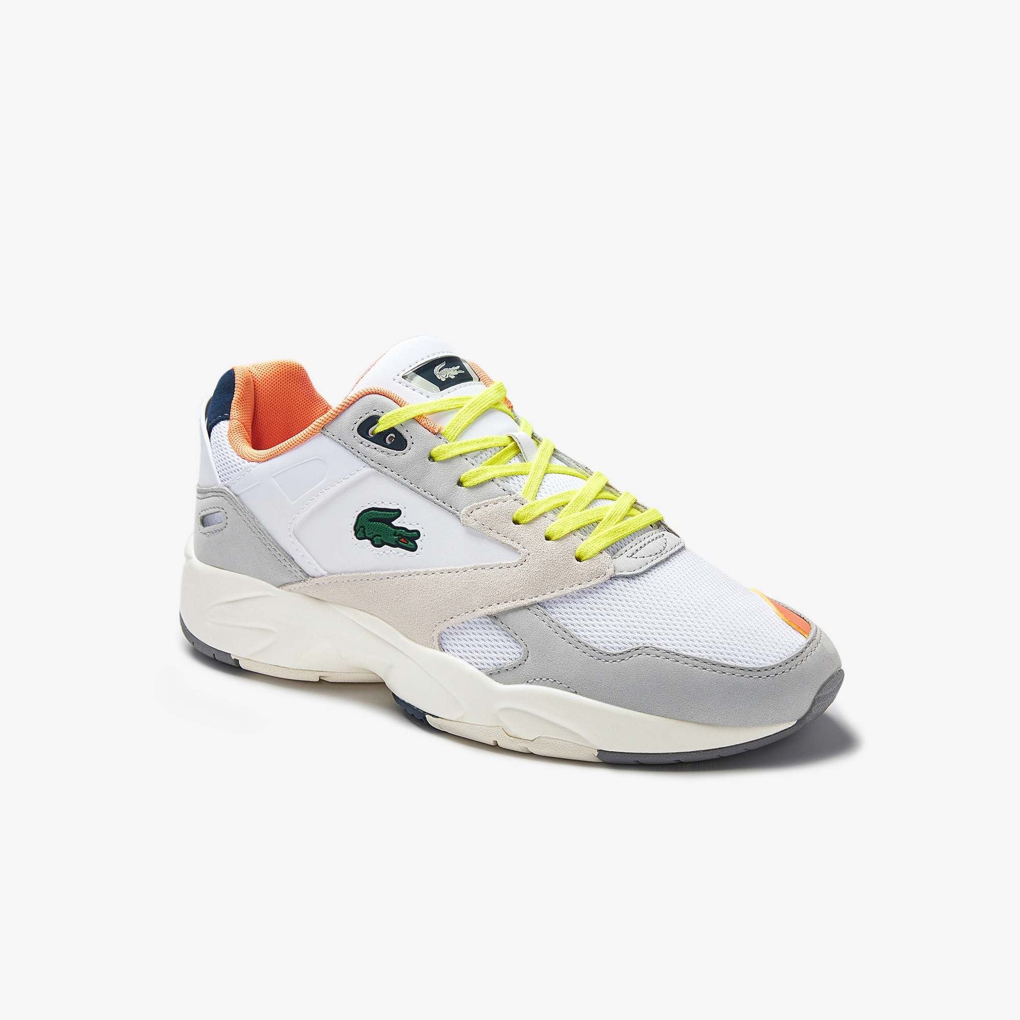 Lacoste Mens Storm 96 LO Textile, Synthetic and Leather Trainers