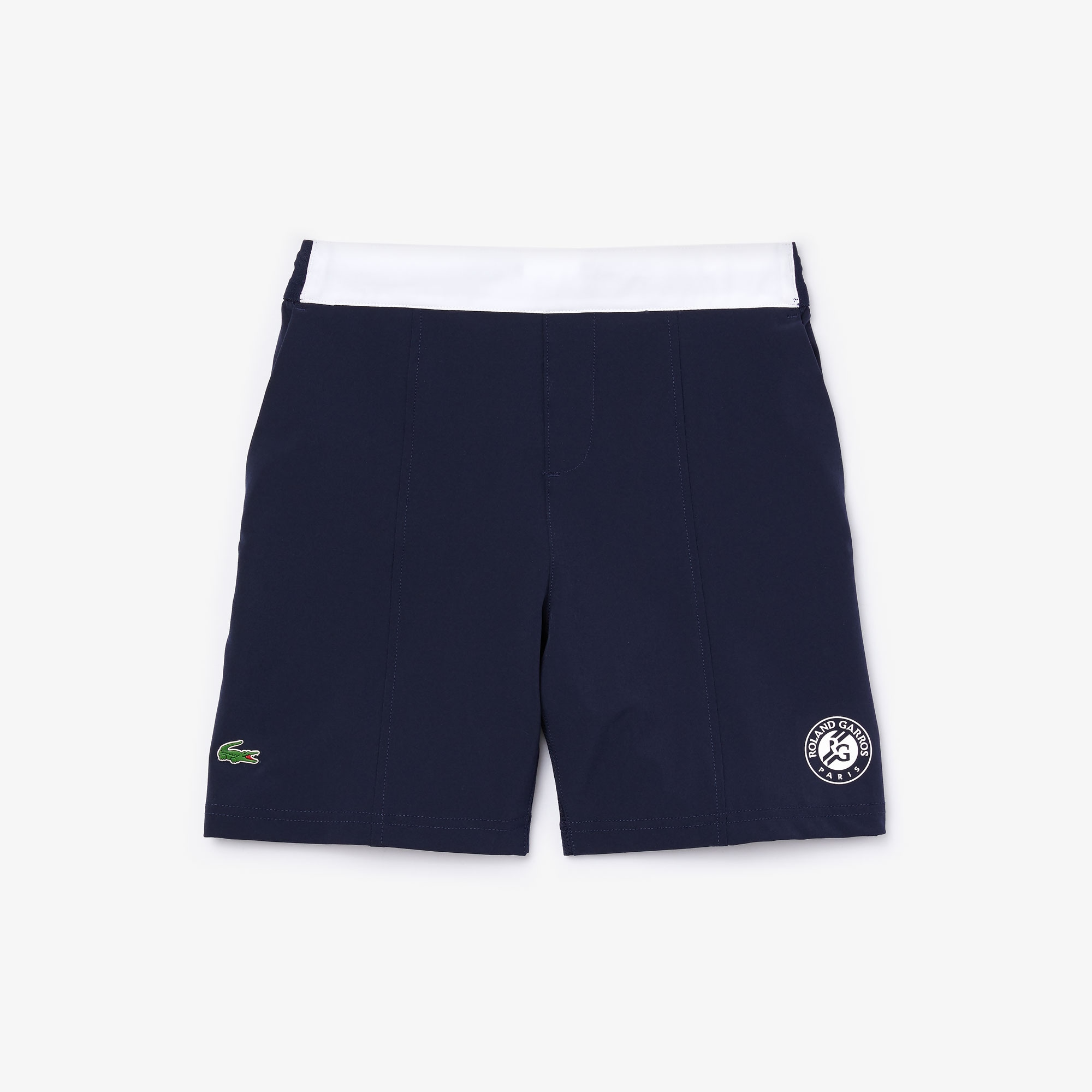 라코스테 Lacoste Boys SPORT Roland Garros Two-Tone Shorts,Navy Blue / White • 2HC
