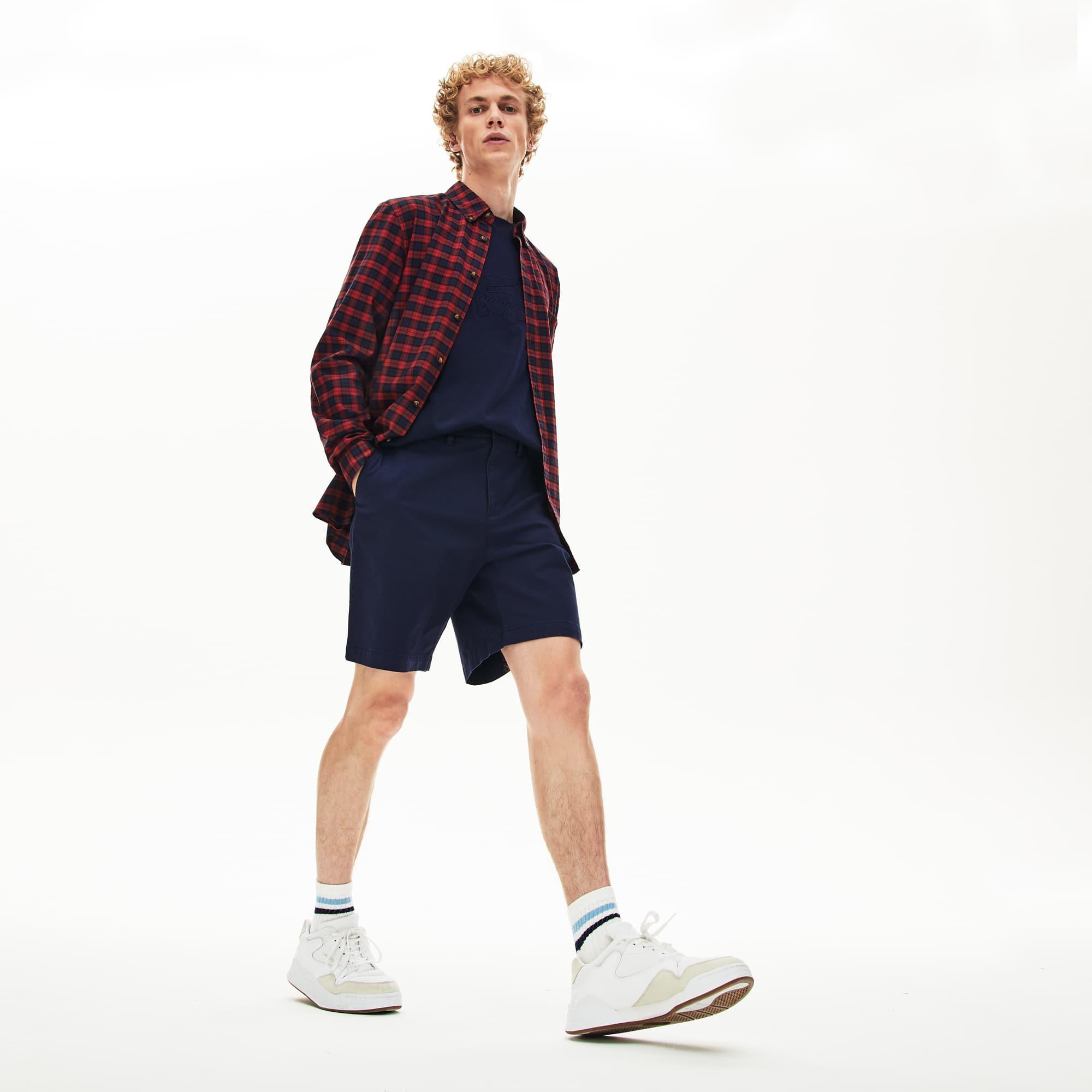 a504b11ad8d Men's Regular Fit Cotton Gabardine Bermuda Shorts