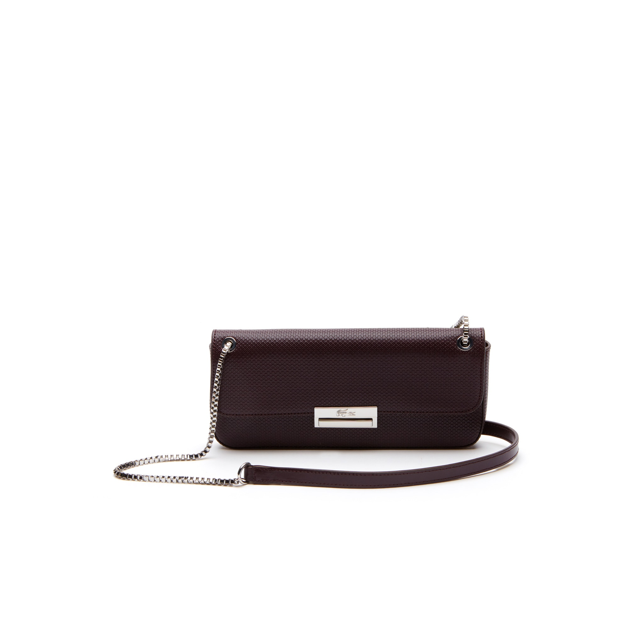 Lacoste WOMEN'S CHANTACO CHRISTMAS PIQUÉ LEATHER FLAP SHOULDER BAG