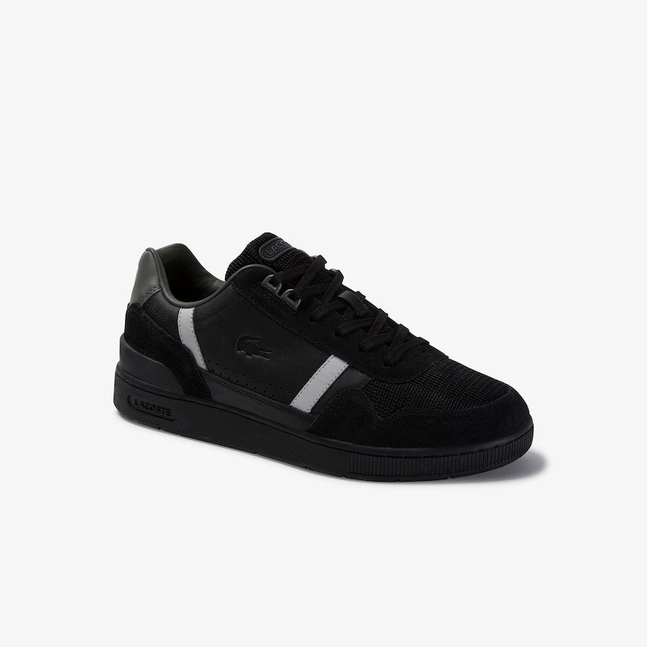 Men's T-Clip Leather and Suede Sneakers