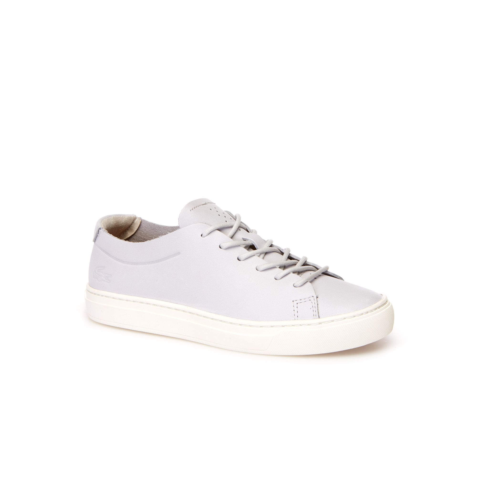 Women's L.12.12 Unlined Grey Leather Trainers