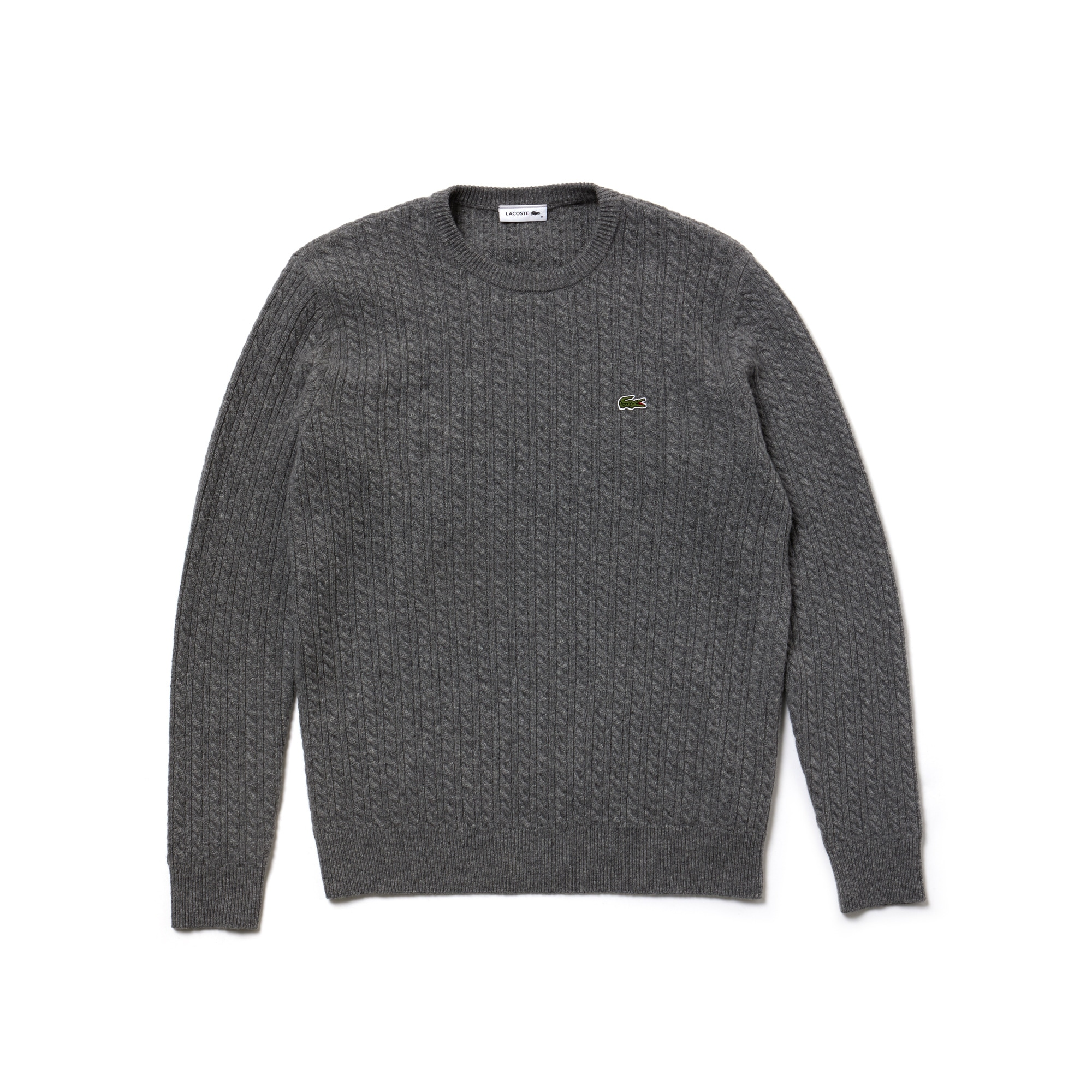 Unisex Fashion Show Crew Neck Wool And Cashmere Cable Knit Sweater