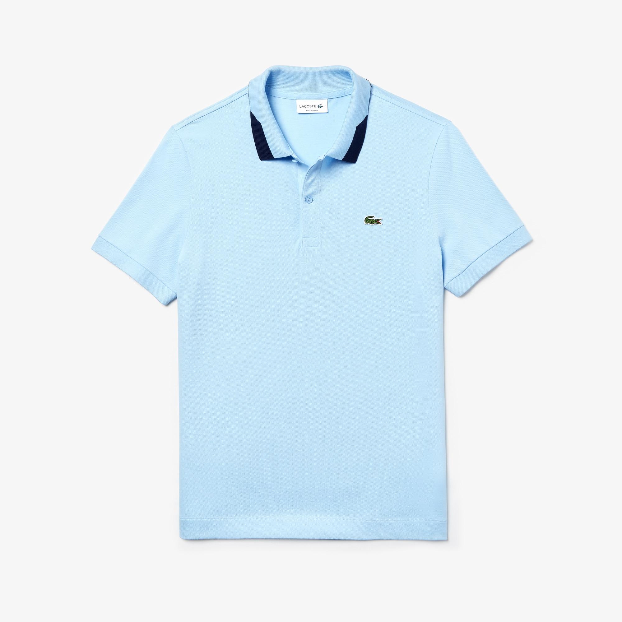 Men's Lacoste Slim Fit Contrast Accents Stretch Pima Piqué Polo Shirt