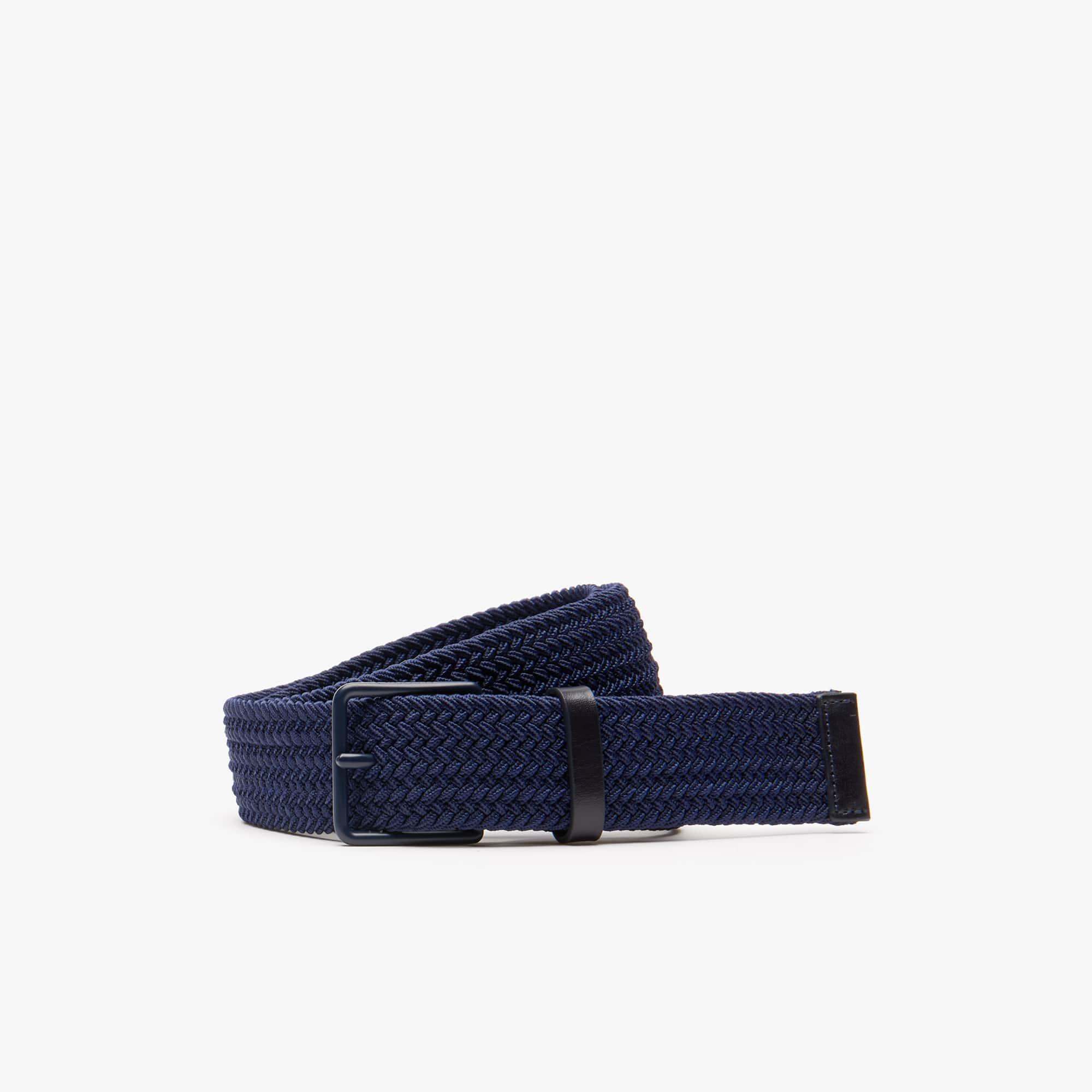 Men's Engraved Buckle Braid Belt