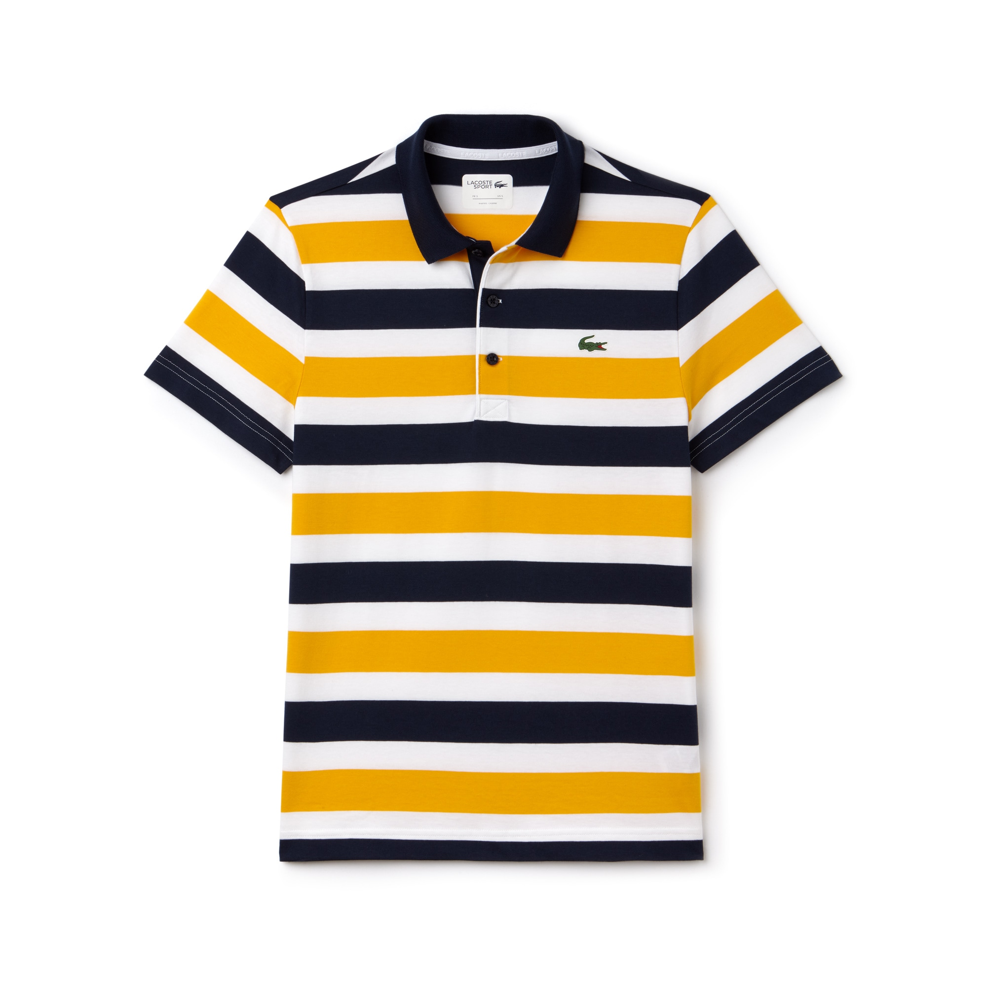 Men's SPORT Striped Tennis Polo