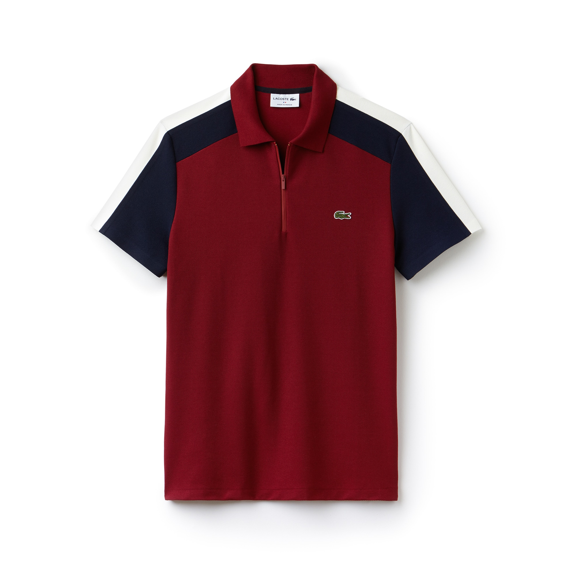 Men's  Made In France Regular Fit Colorblock Piqué Polo