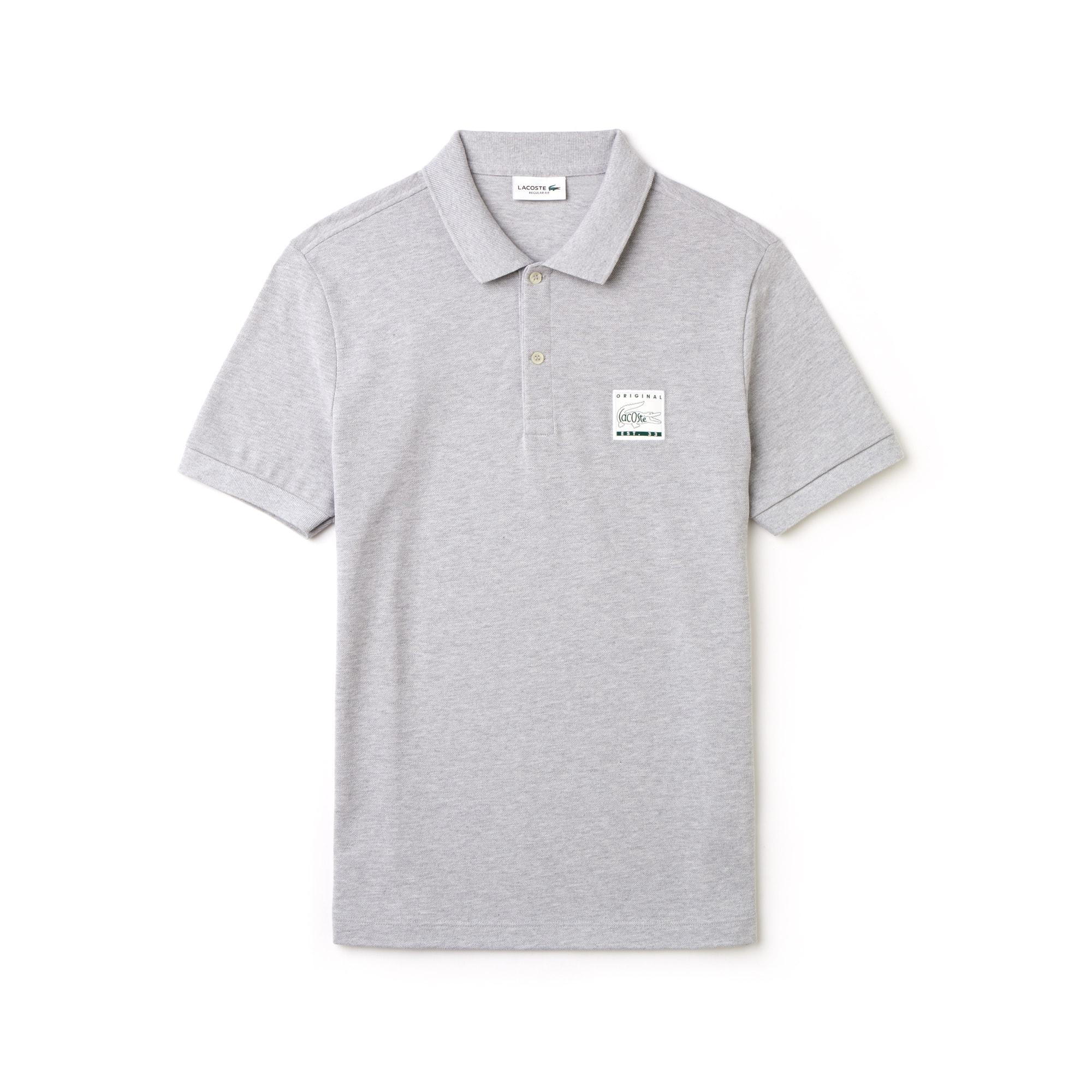 Men's Regular Fit Patch Piqué Polo