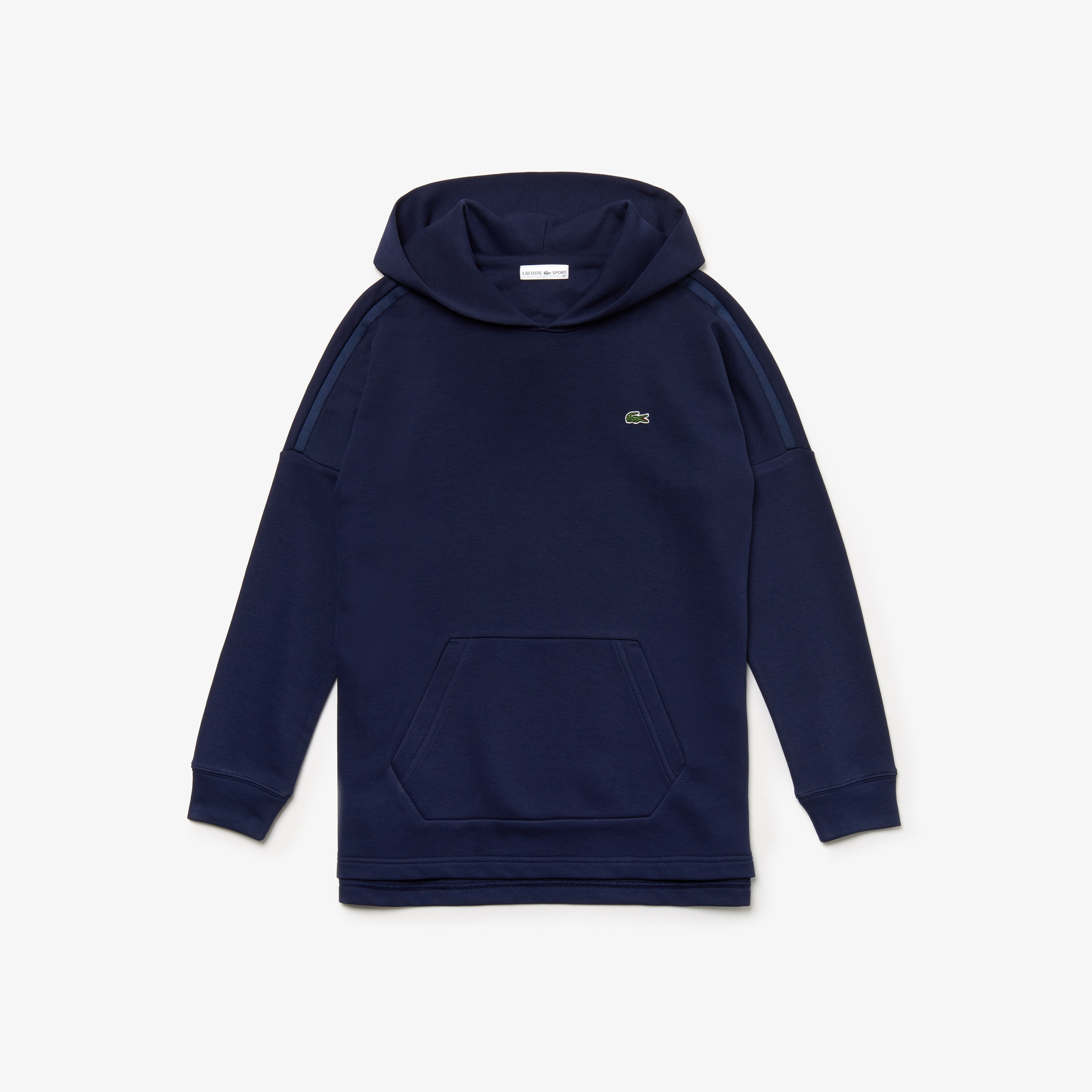 라코스테 Lacoste Womens SPORT Hooded Fleece Tennis Sweatshirt,navy blue / navy blue