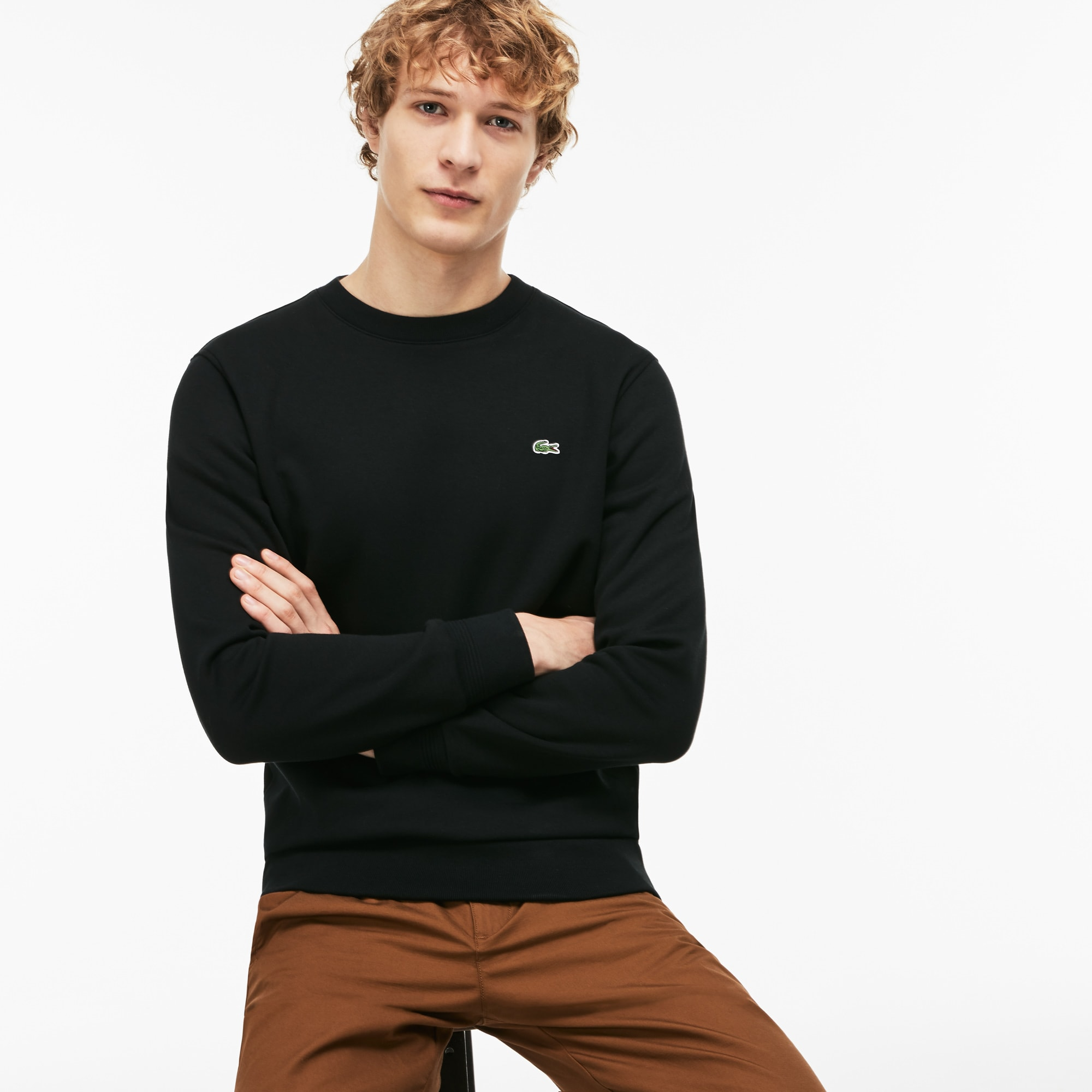 Men's Crew Neck Contrast Sweatshirt