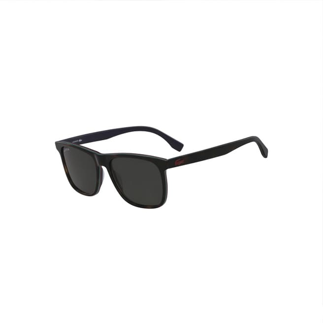 Men's Plastic Square Stripes & Piping Sunglasses