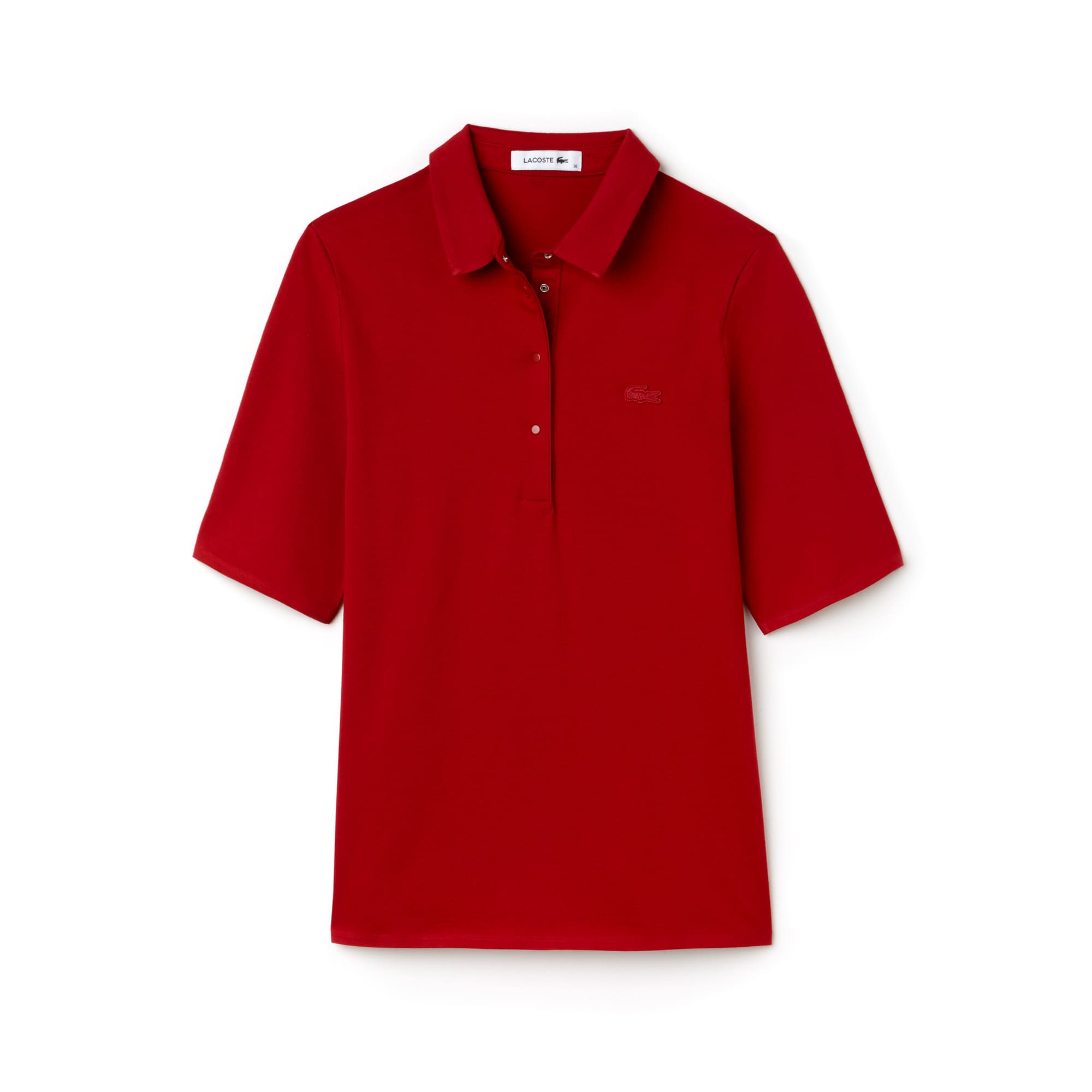 Women's Lacoste Pleated Back Cotton Jersey Polo