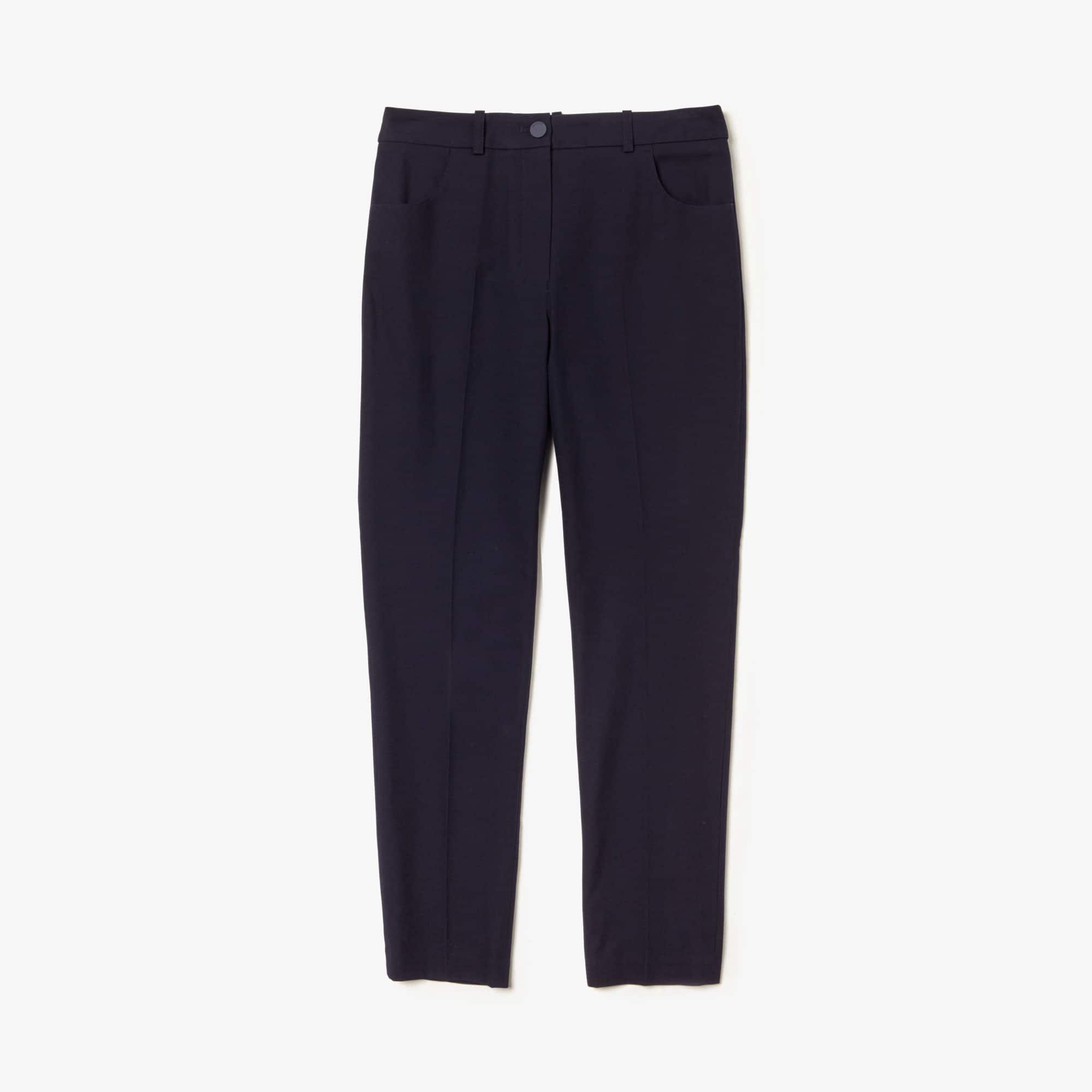 Lacoste Pants Women's Slim Fit Stretch Cotton Twill Pants