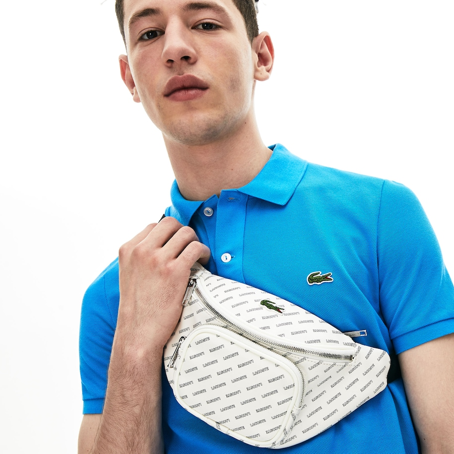 Men's Lacoste LIVE Coated Print Canvas Belt Bag
