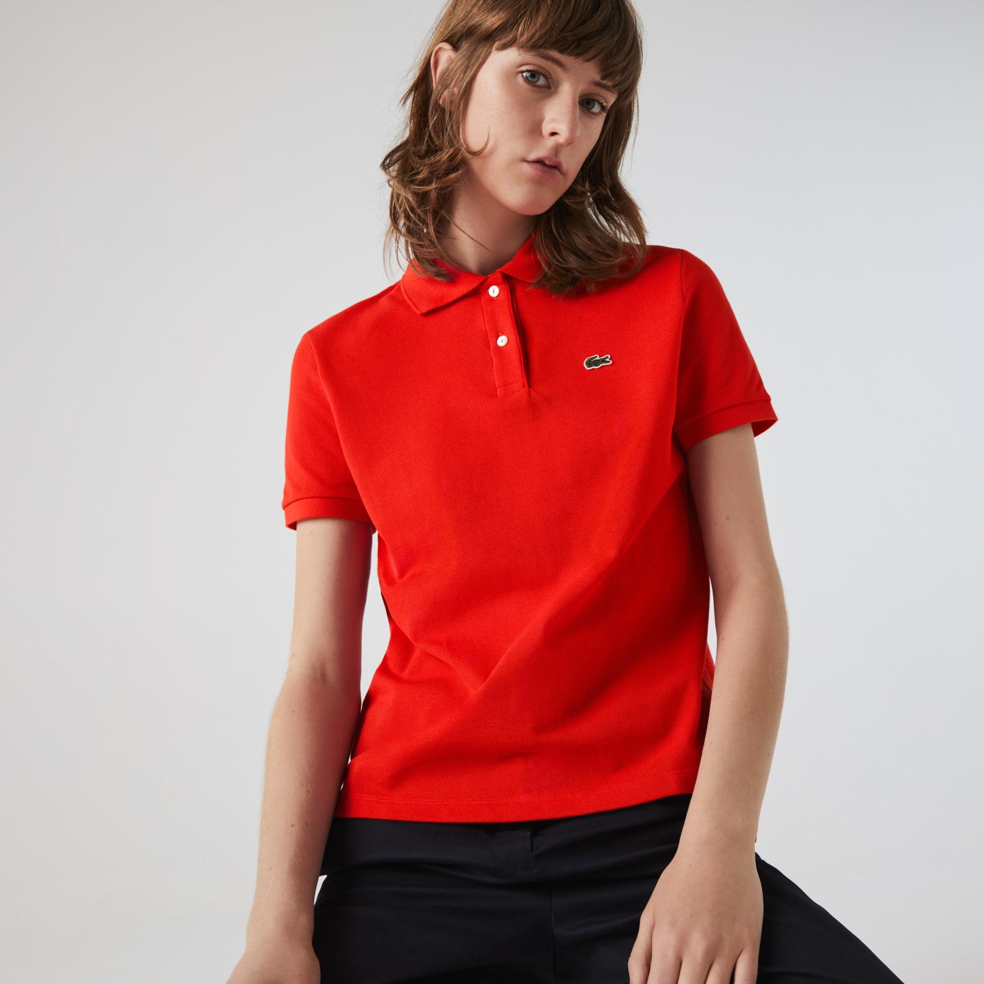 Lacoste Womens Classic Fit Soft Cotton Petit Pique Polo