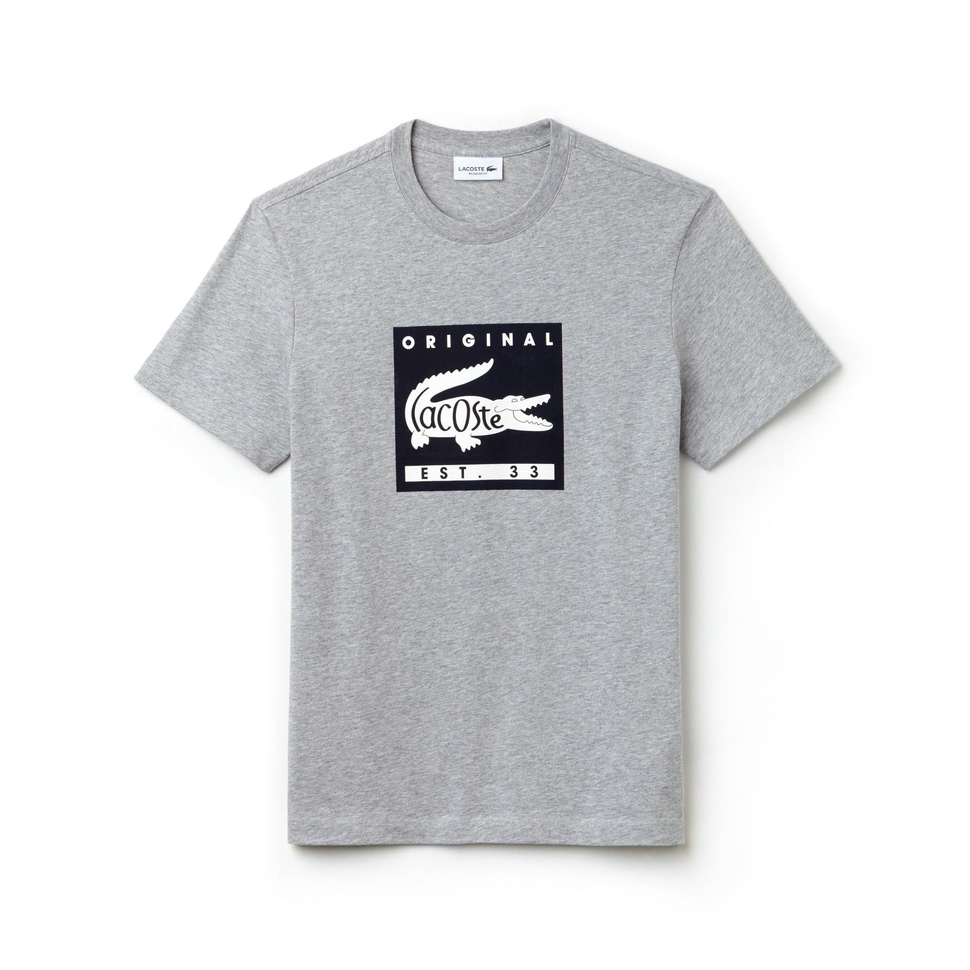 Men's Crew Neck Original Lettering Jersey T-shirt