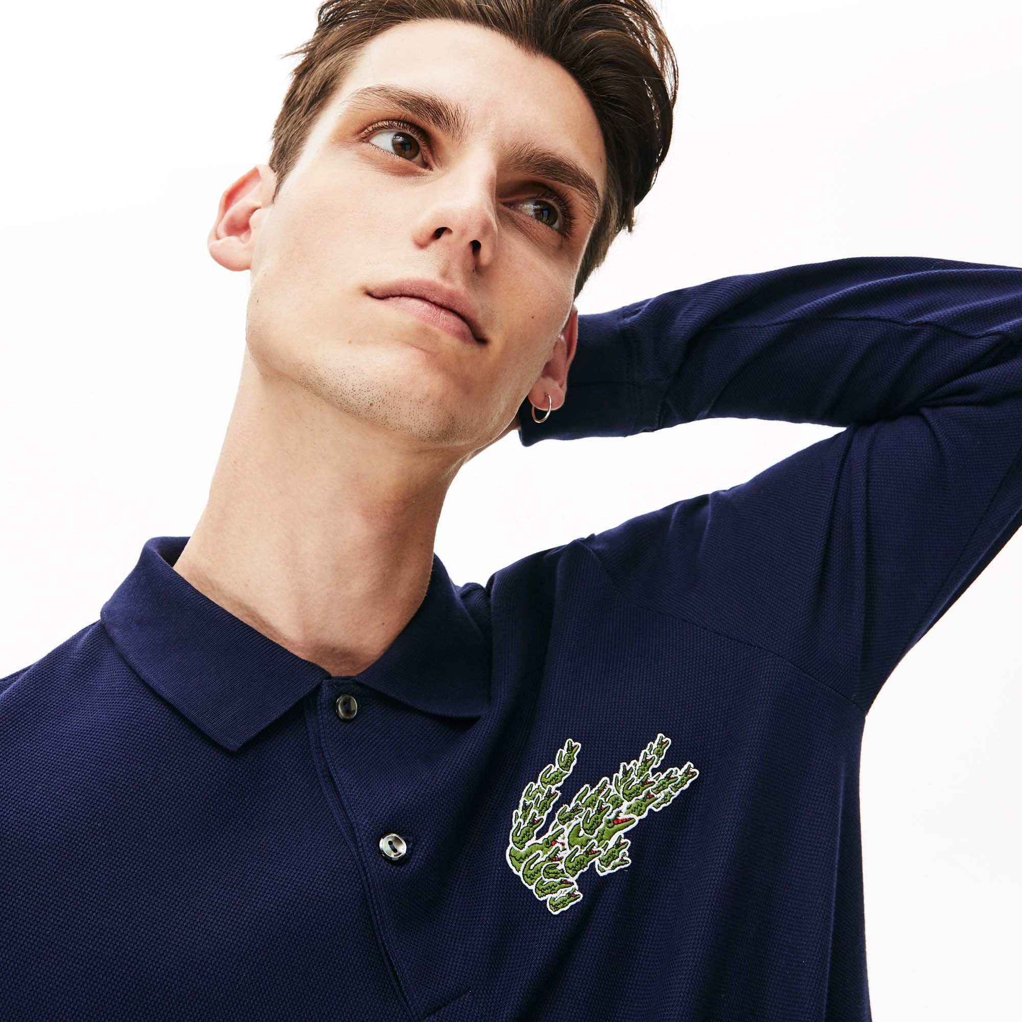 Lacoste Tops Men's Regular Fit Multi Croc Logo Polo Shirt