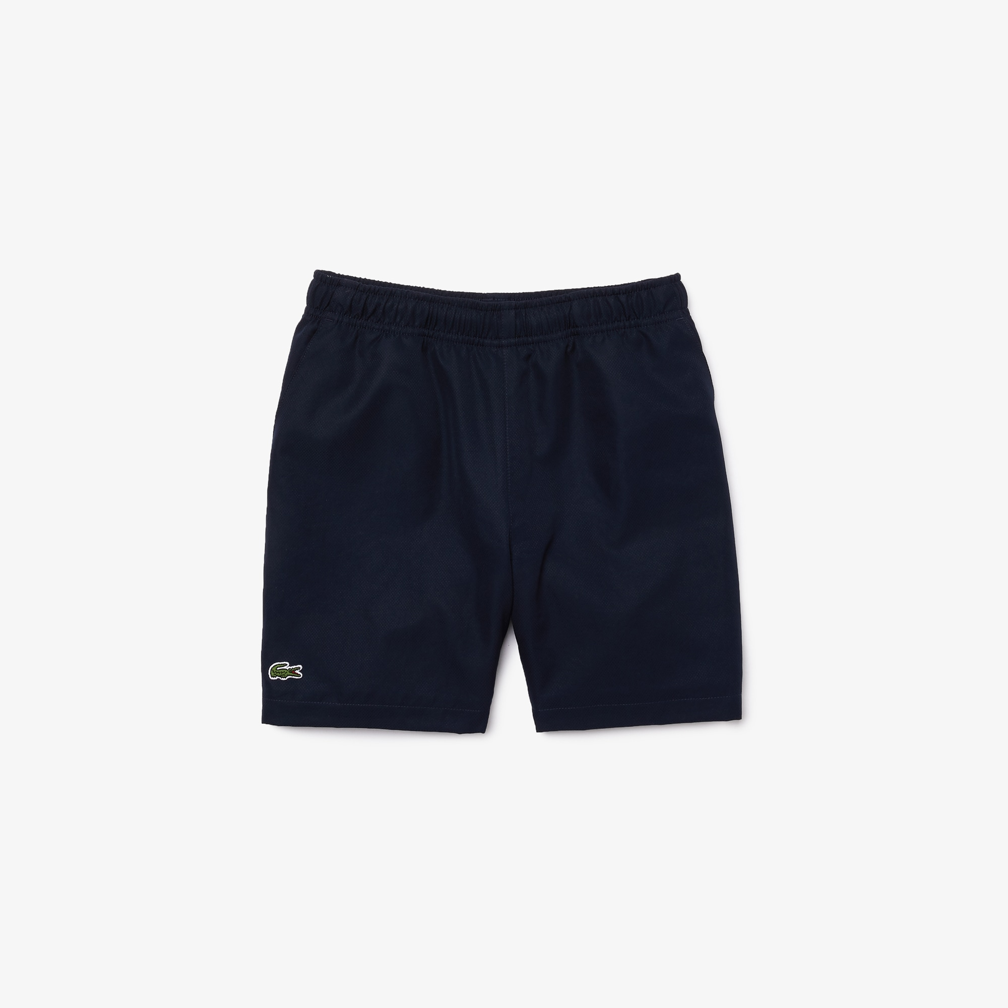 라코스테 Lacoste Boys' SPORT Drawstring Tennis Shorts,Navy Blue • 166