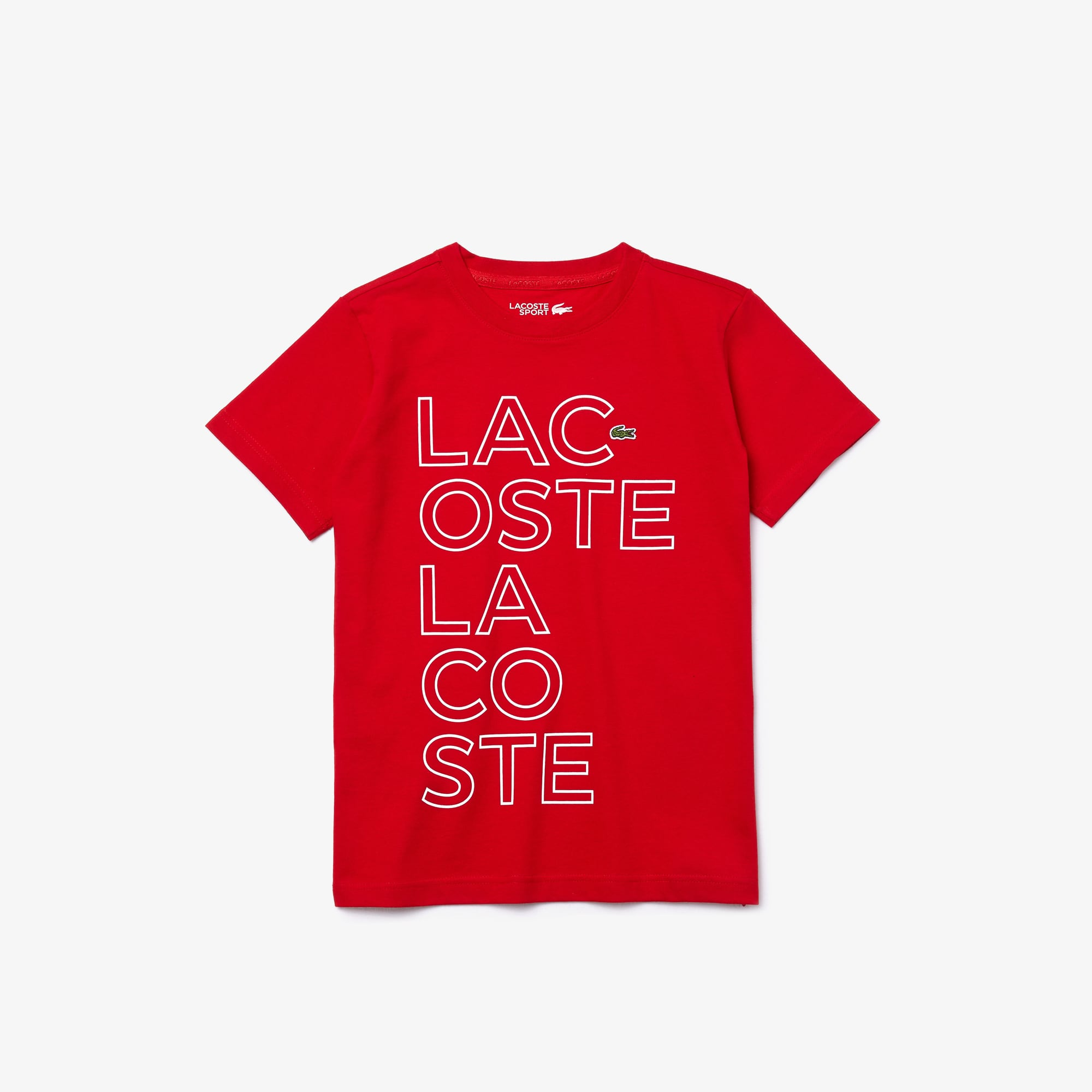 Boys 라코스테 Lacoste SPORT Printed Breathable Cotton T-shirt