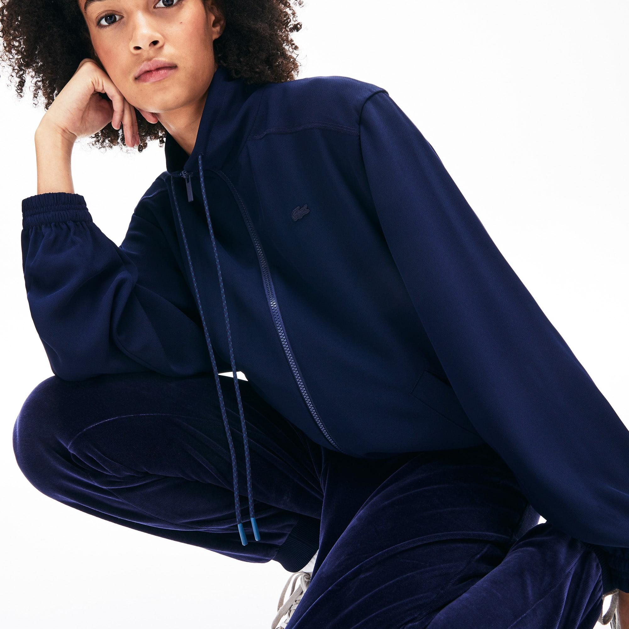 라코스테 Lacoste Womens Motion Oversized Twill Zippered Jacket