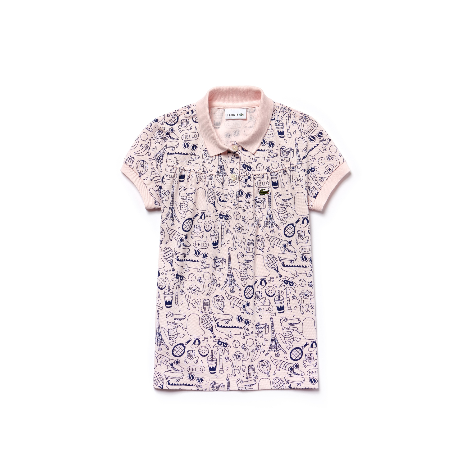 Girls' OMY Edition Mini Piqué Print Polo