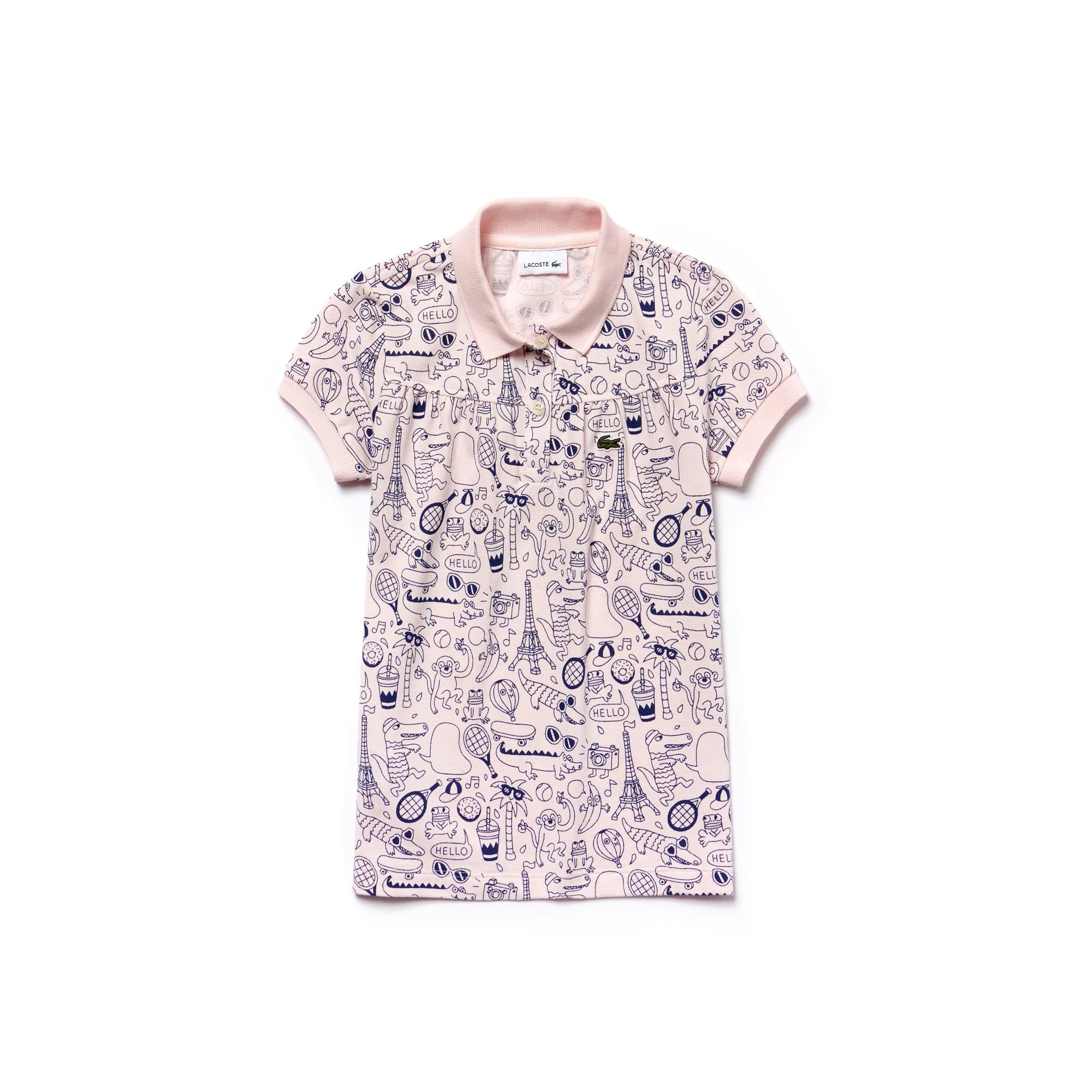 Girls'  OMY Edition Mini Piqué Print Polo