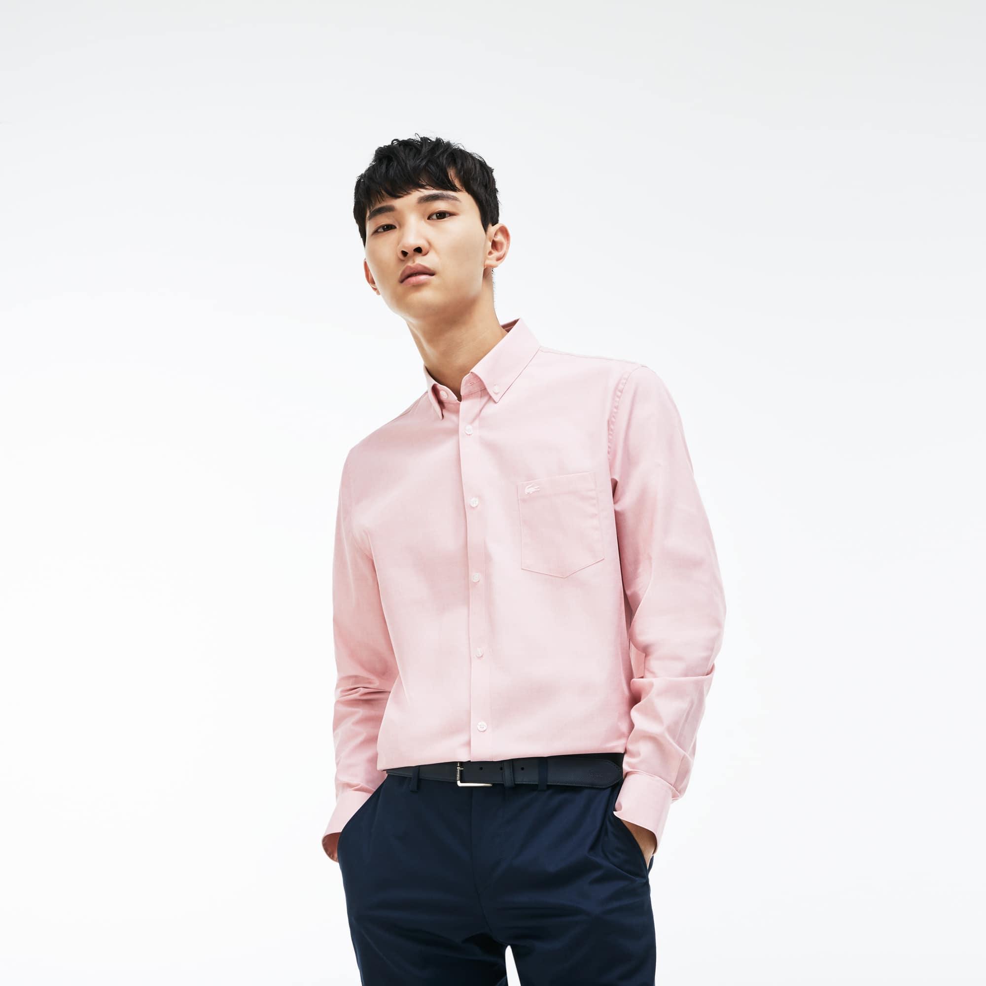 Men's Regular Fit Salt-and-Pepper Shirt