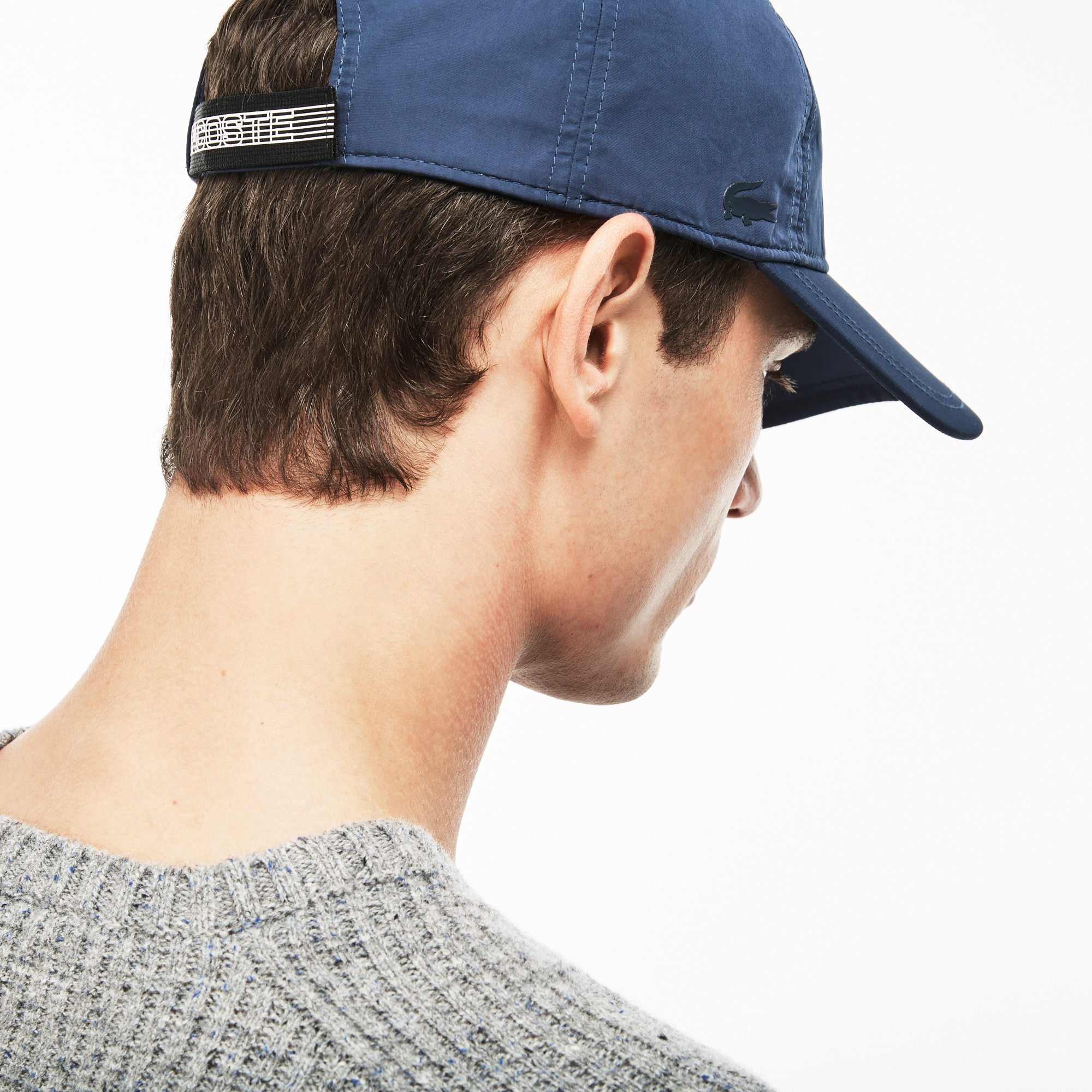 Men's Baseball Cap With Lacoste Buckle In Back