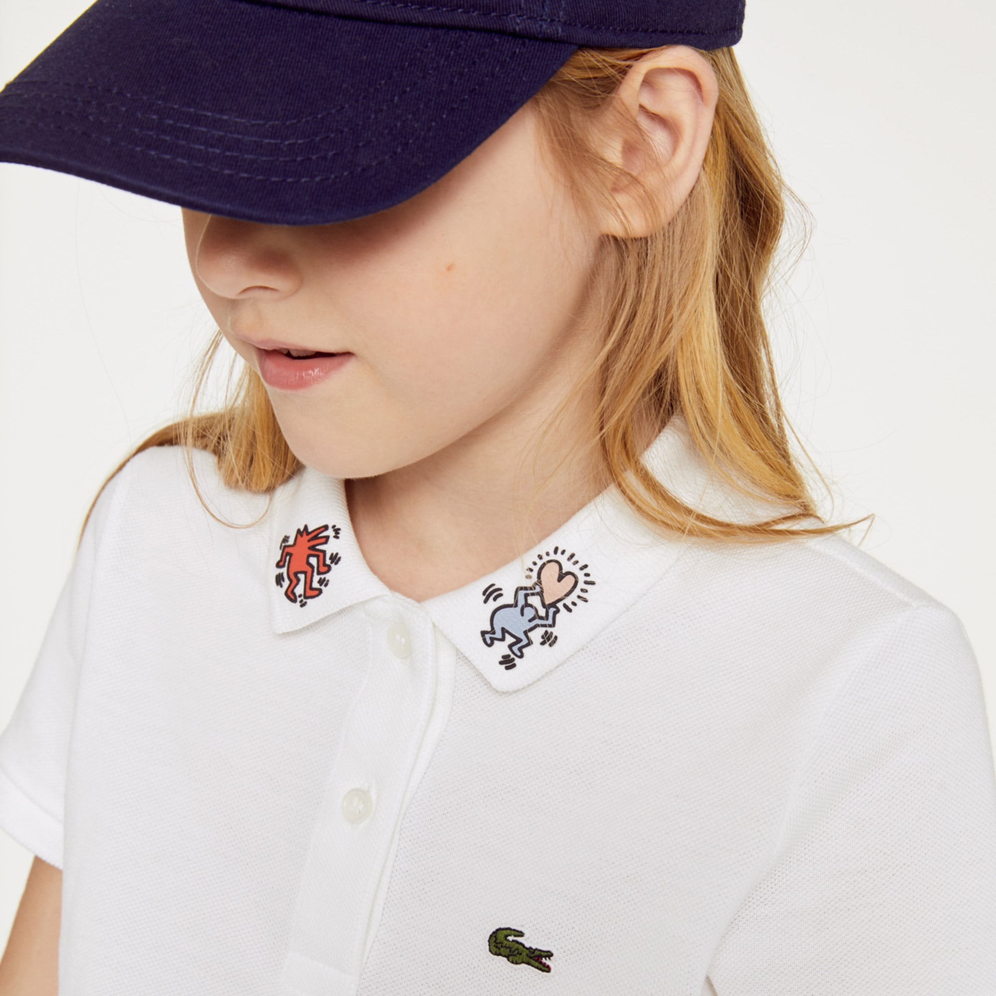 b0f9b2741 Girls  Lacoste Flounced Sleeved Striped Cotton Polo Shirt. C  65.00 - C   70.00. Girls  Keith Haring Patterned Cotton Polo