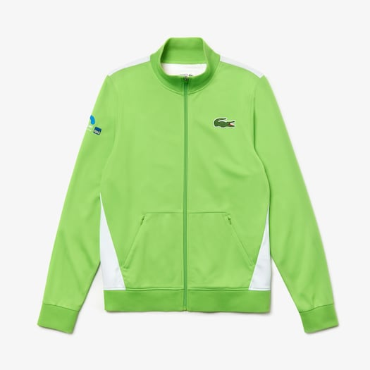 라코스테 Lacoste Mens SPORT Miami Open Edition Jacket,Green / White - PDS (Selected colour)