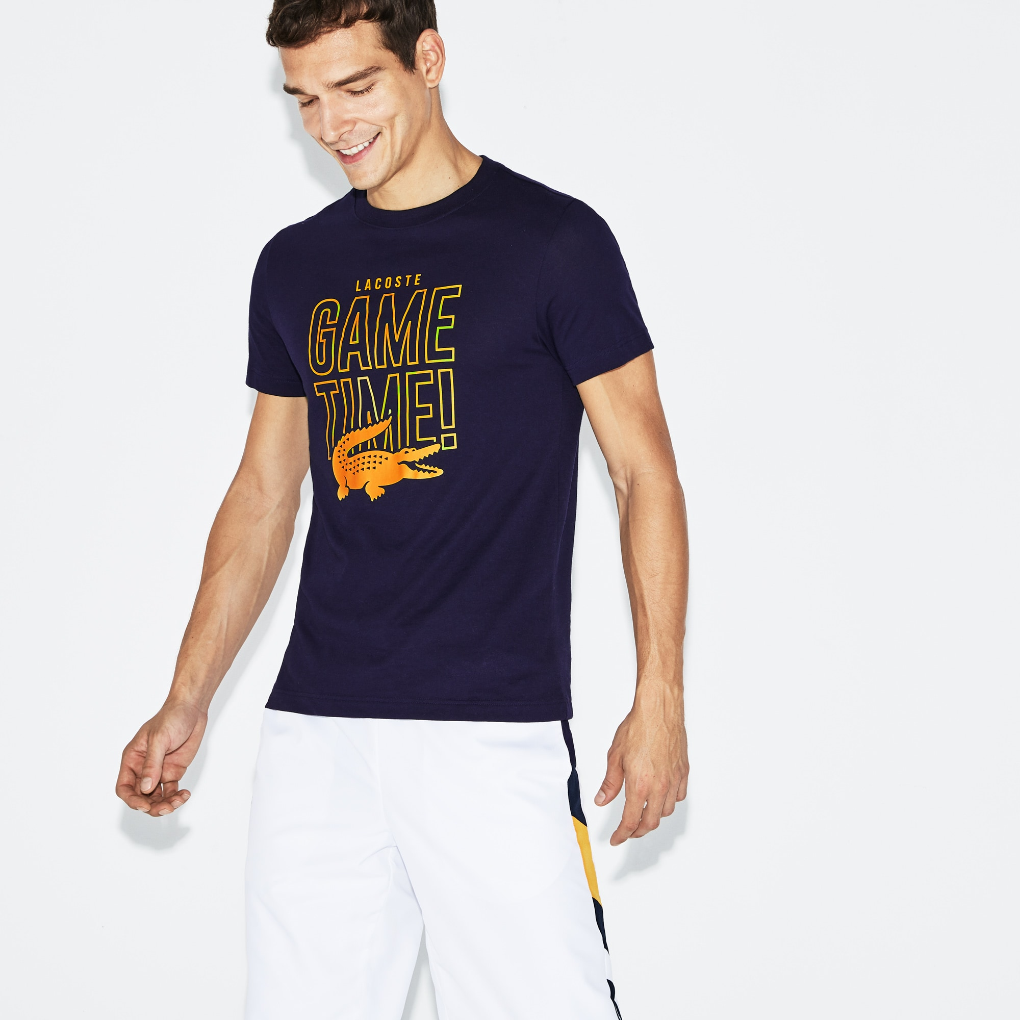 Men's SPORT Game Time Crew Neck Jersey Tennis T-shirt