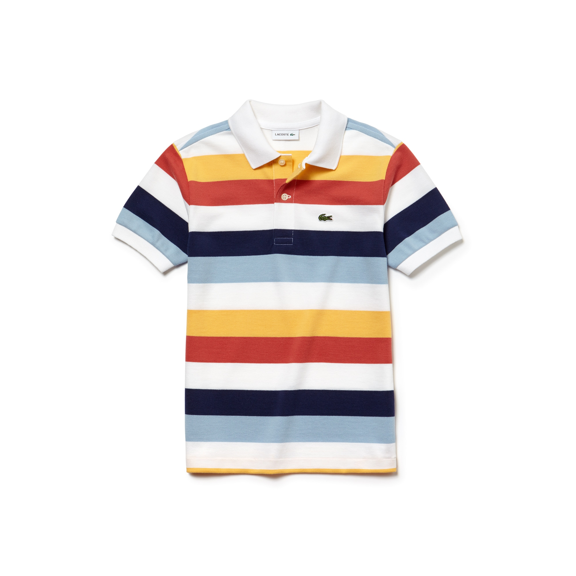 Boys' Colored Stripes Piqué Polo
