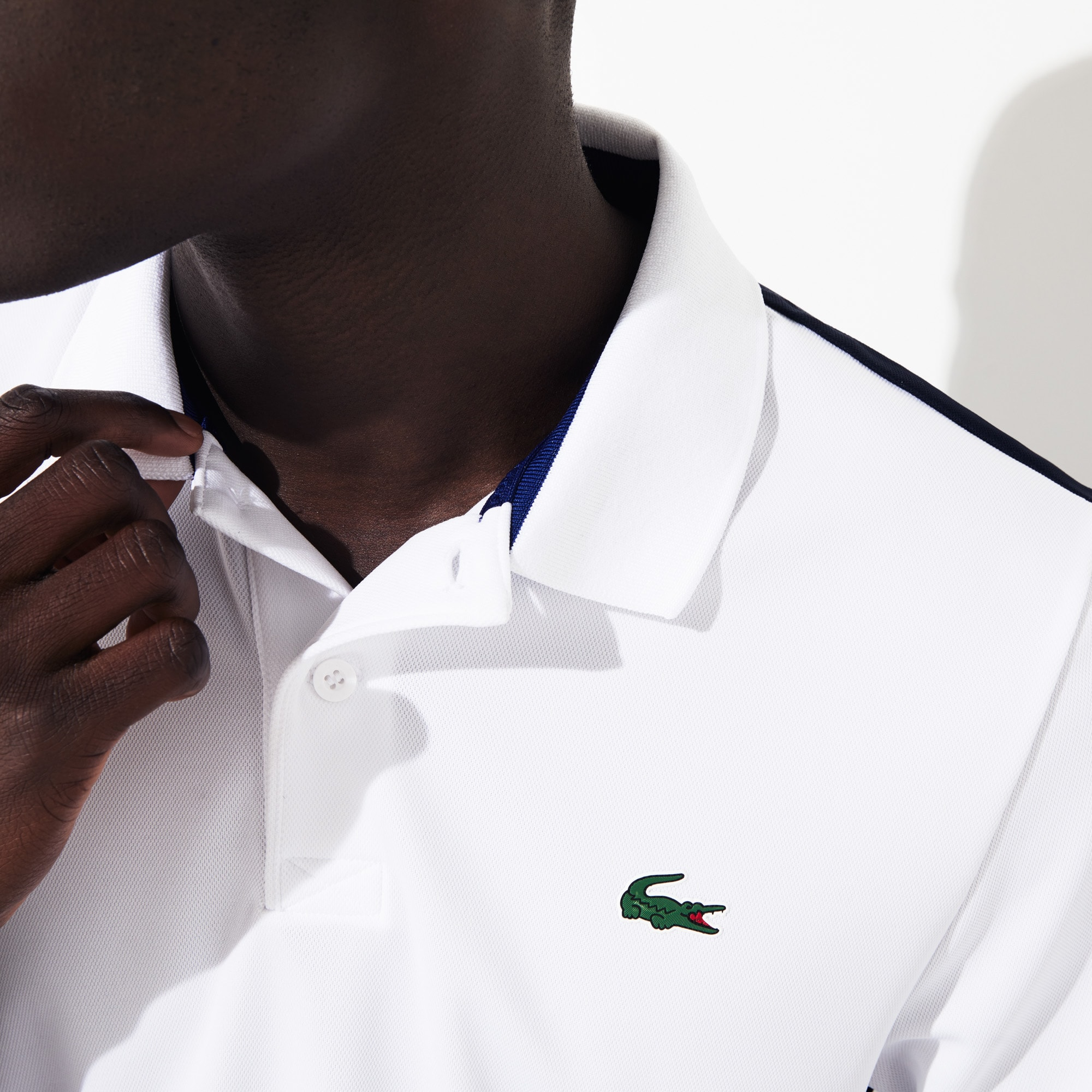 Men's SPORT Breathable Color-Block Piqué Polo