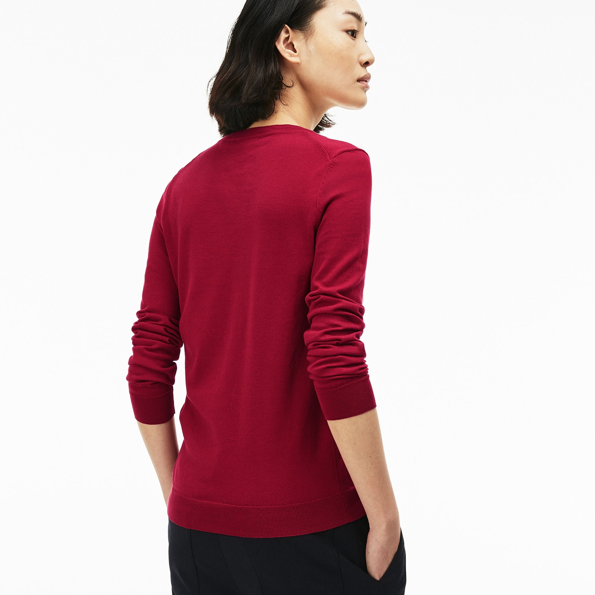 Women's V-neck Jersey Sweater