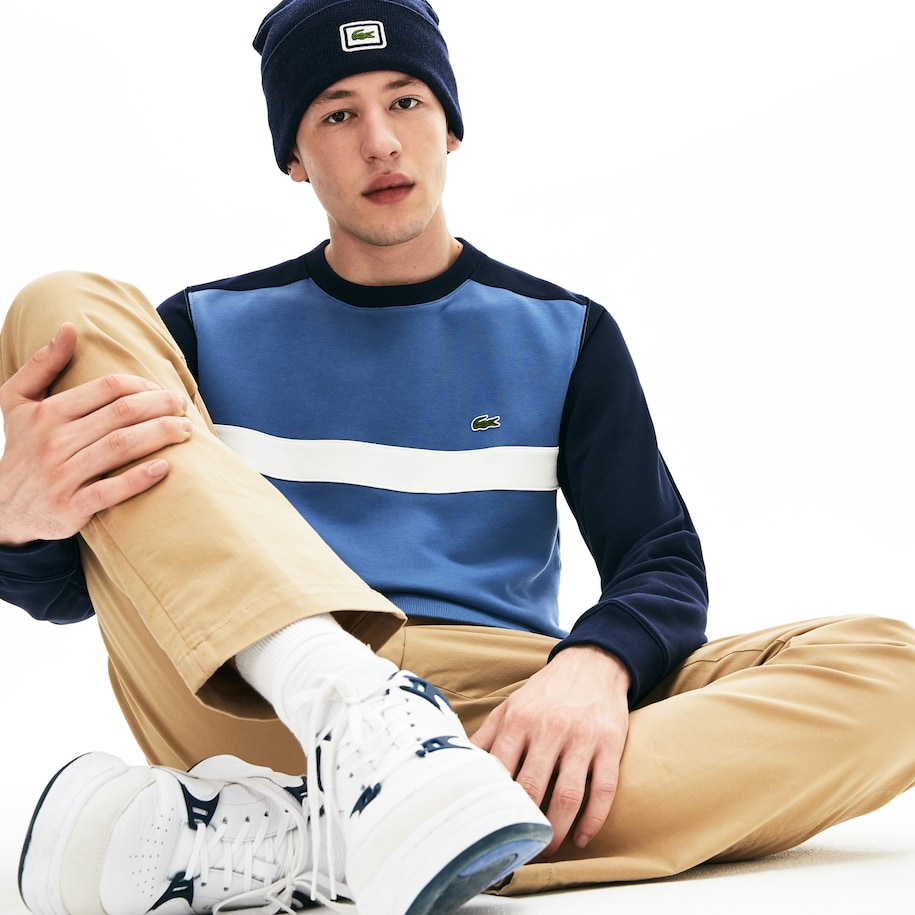 Men's Color-Block Cotton Fleece Sweatshirt
