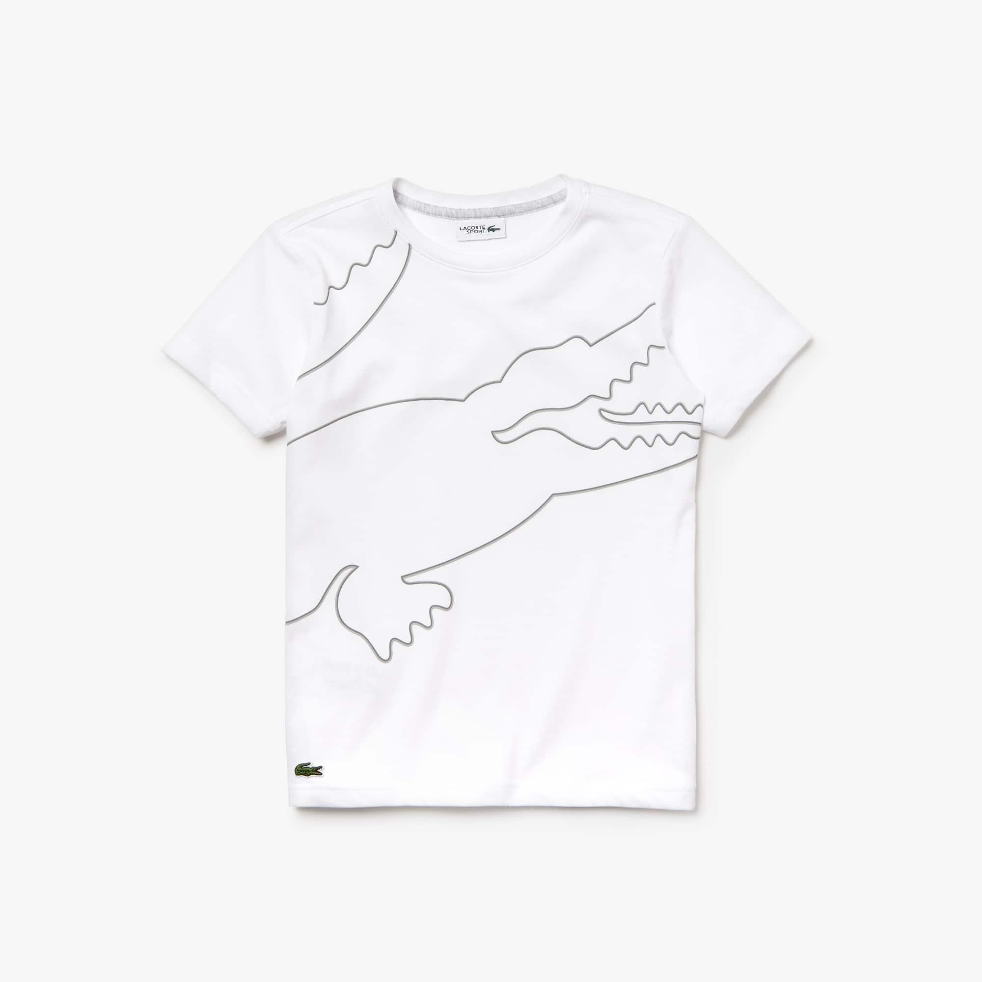 443771e131 T-Shirt Garçon Tennis SPORT avec maxi croco