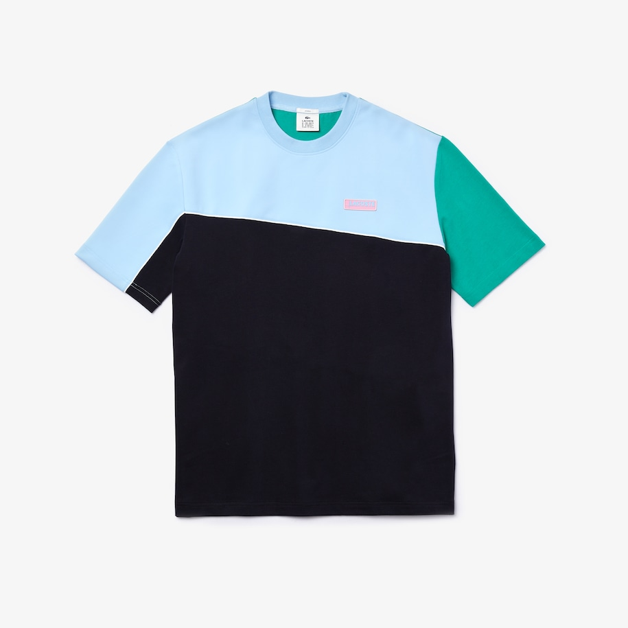 Unisex LIVE Colorblock Cotton And Neoprene T-shirt
