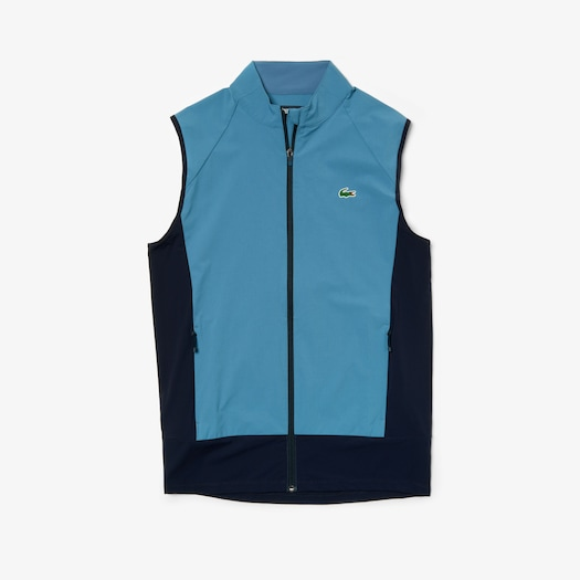 라코스테 Lacoste Mens SPORT Colorblock Technical Taffeta Golf Quilted Vest,Blue / Navy Blue - A4Y (Selected colour)