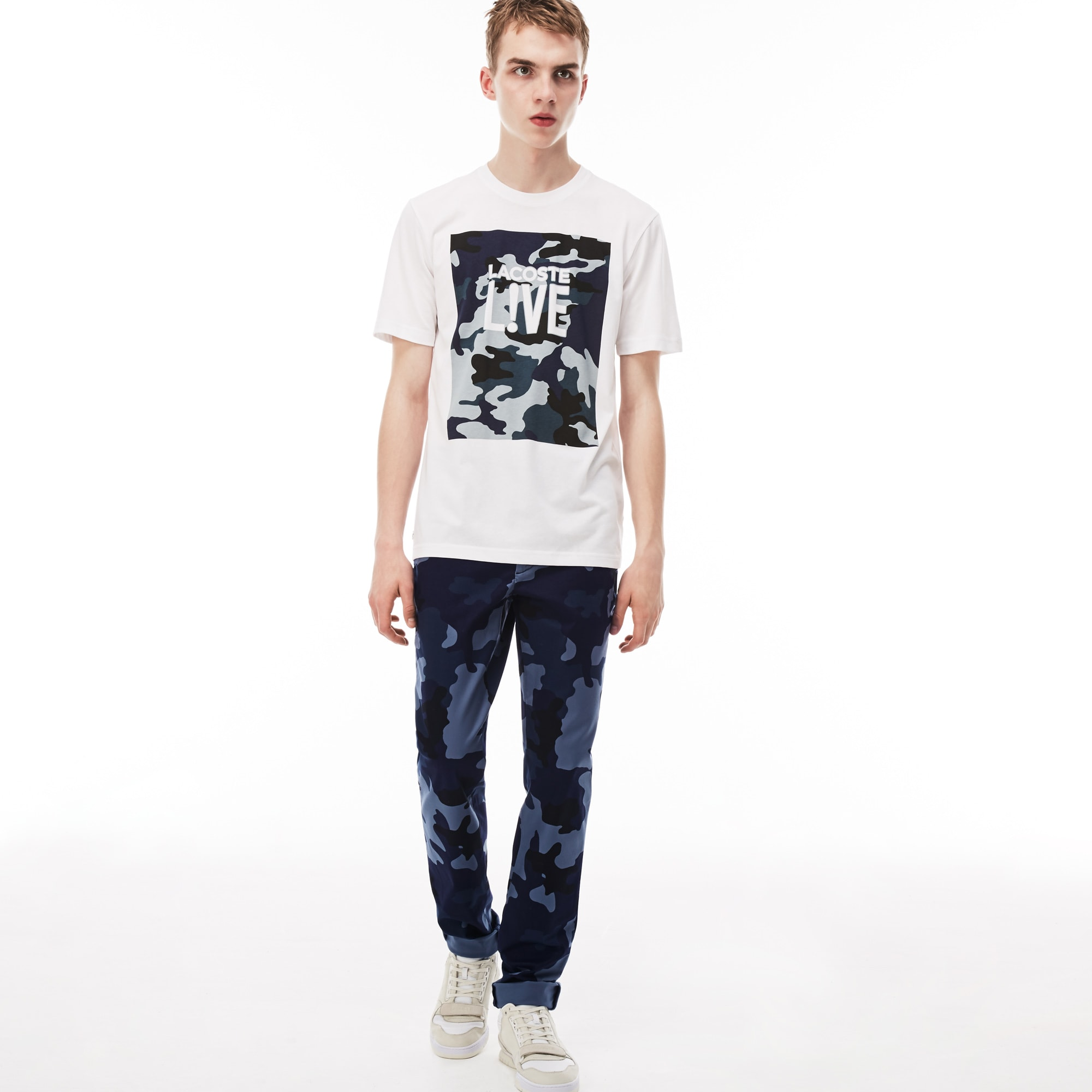 Men's Lacoste LIVE Print Twill Chino Pants