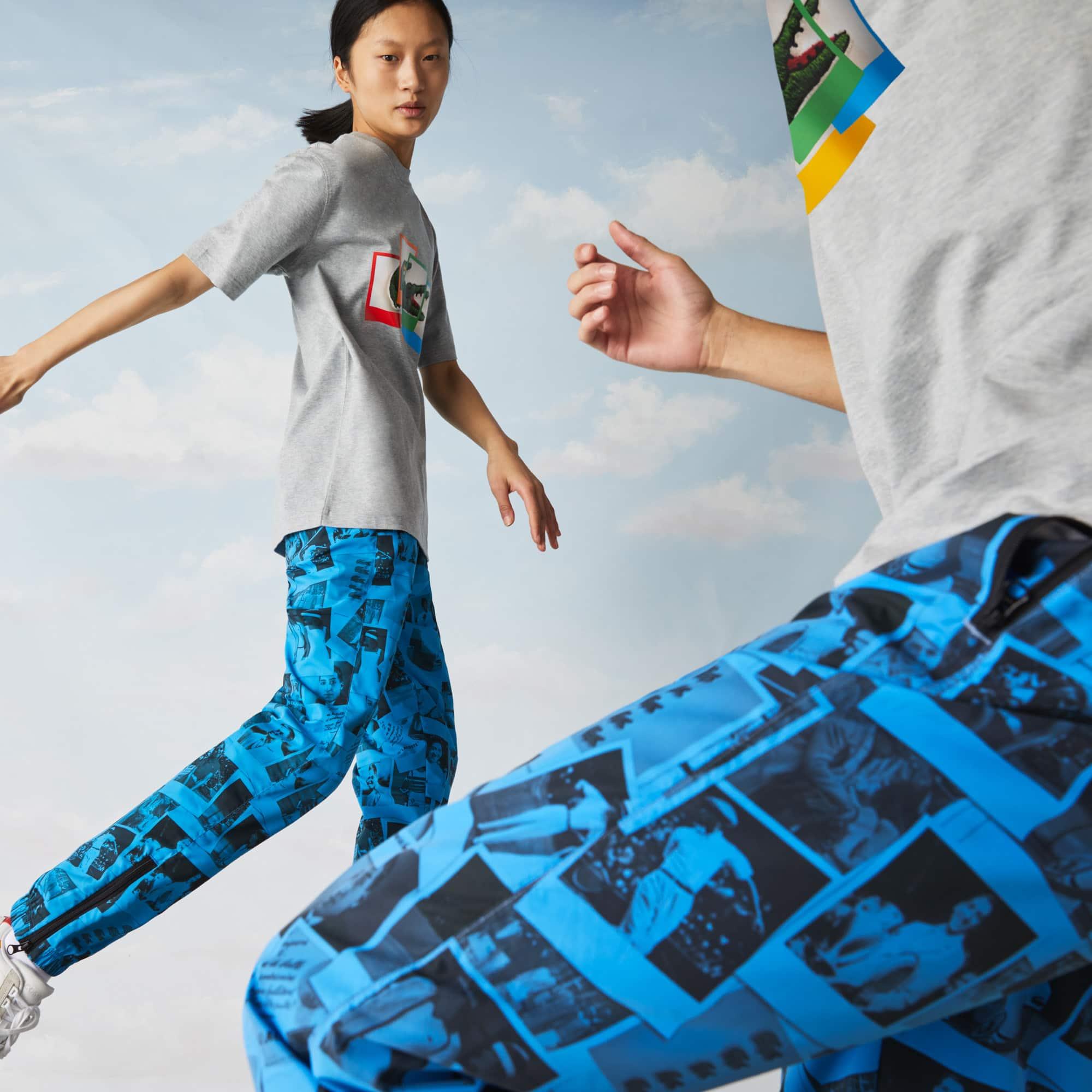 라코스테 남녀공용 라이브 라코스테 Lacoste Unisex LIVE Polaroid Collaboration Loose Fit Cotton T-shirt