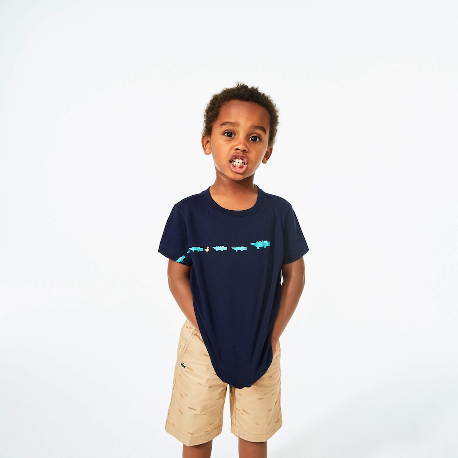 Boy's Croc-Print Cotton T-Shirt