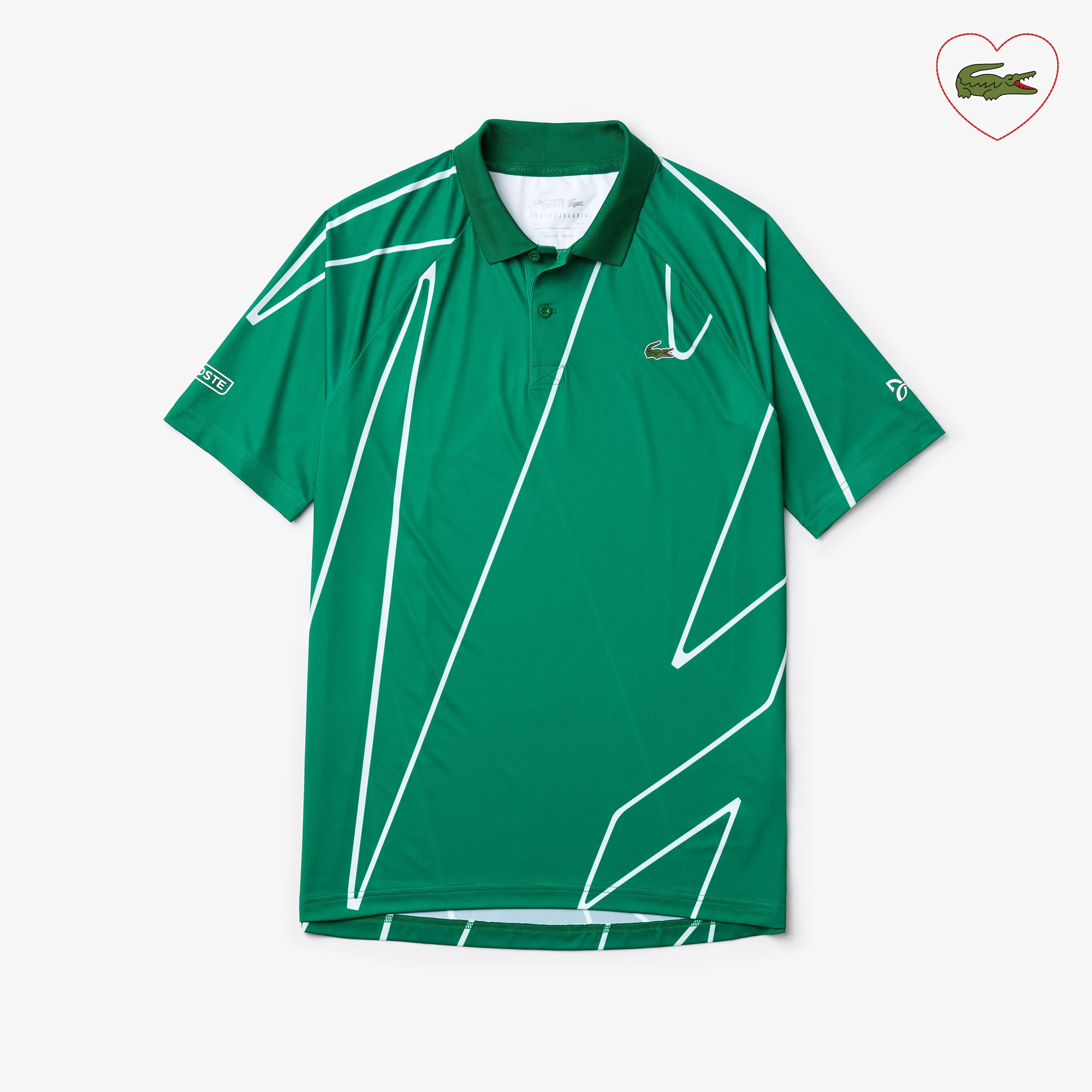 Men's Lacoste SPORT x Novak Djokovic Printed Breathable Polo Shirt