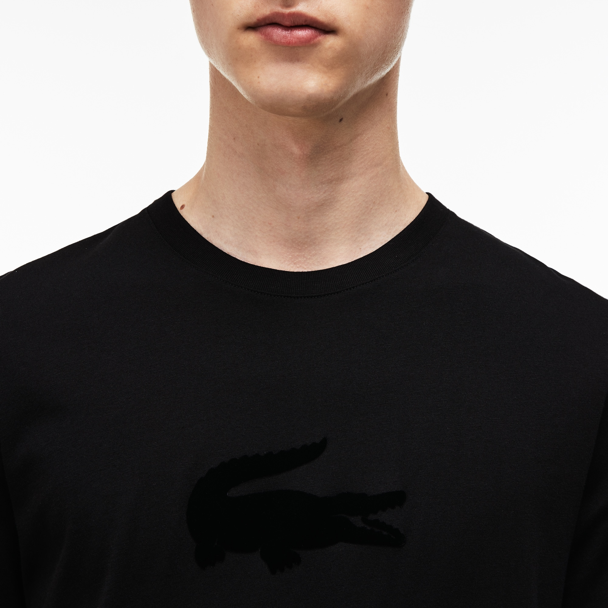ff38cc63a9 Men's Crew Neck Oversized Crocodile Jersey T-shirt