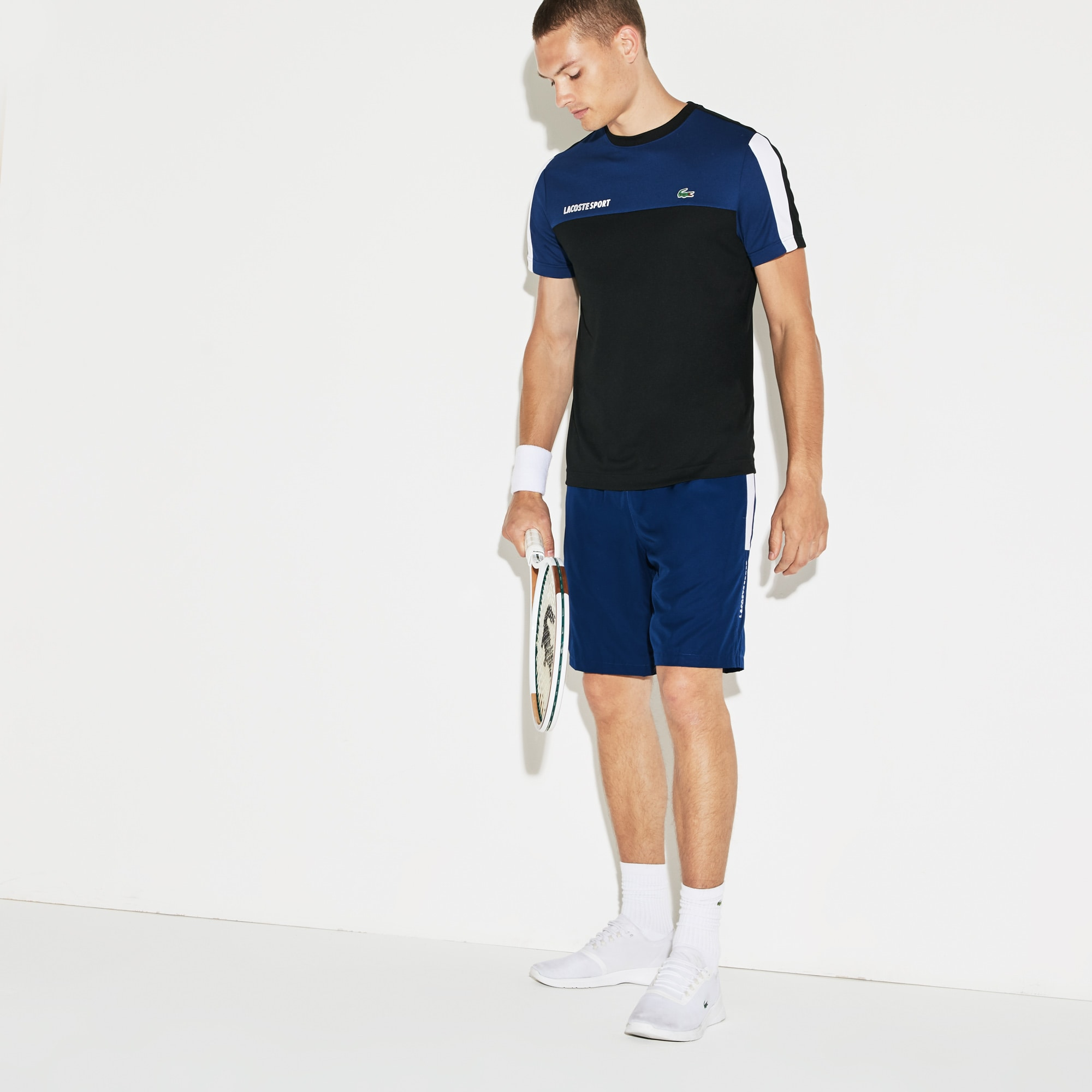 Men's SPORT Colored Bands Taffeta Tennis Shorts