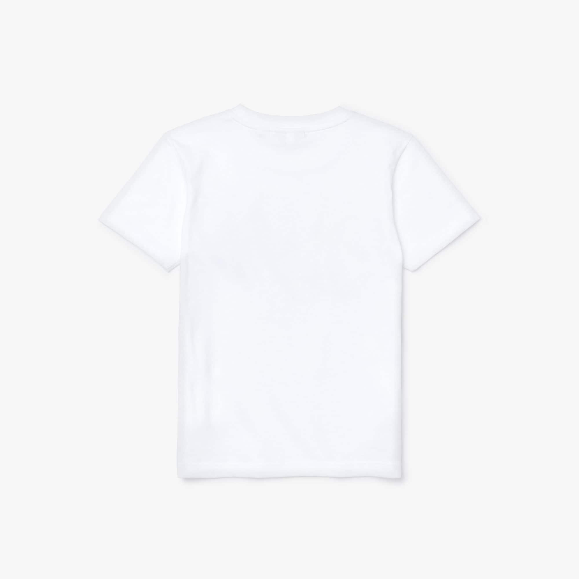 Boys Red Label P3 White Crew Neck T-Shirts TB2133